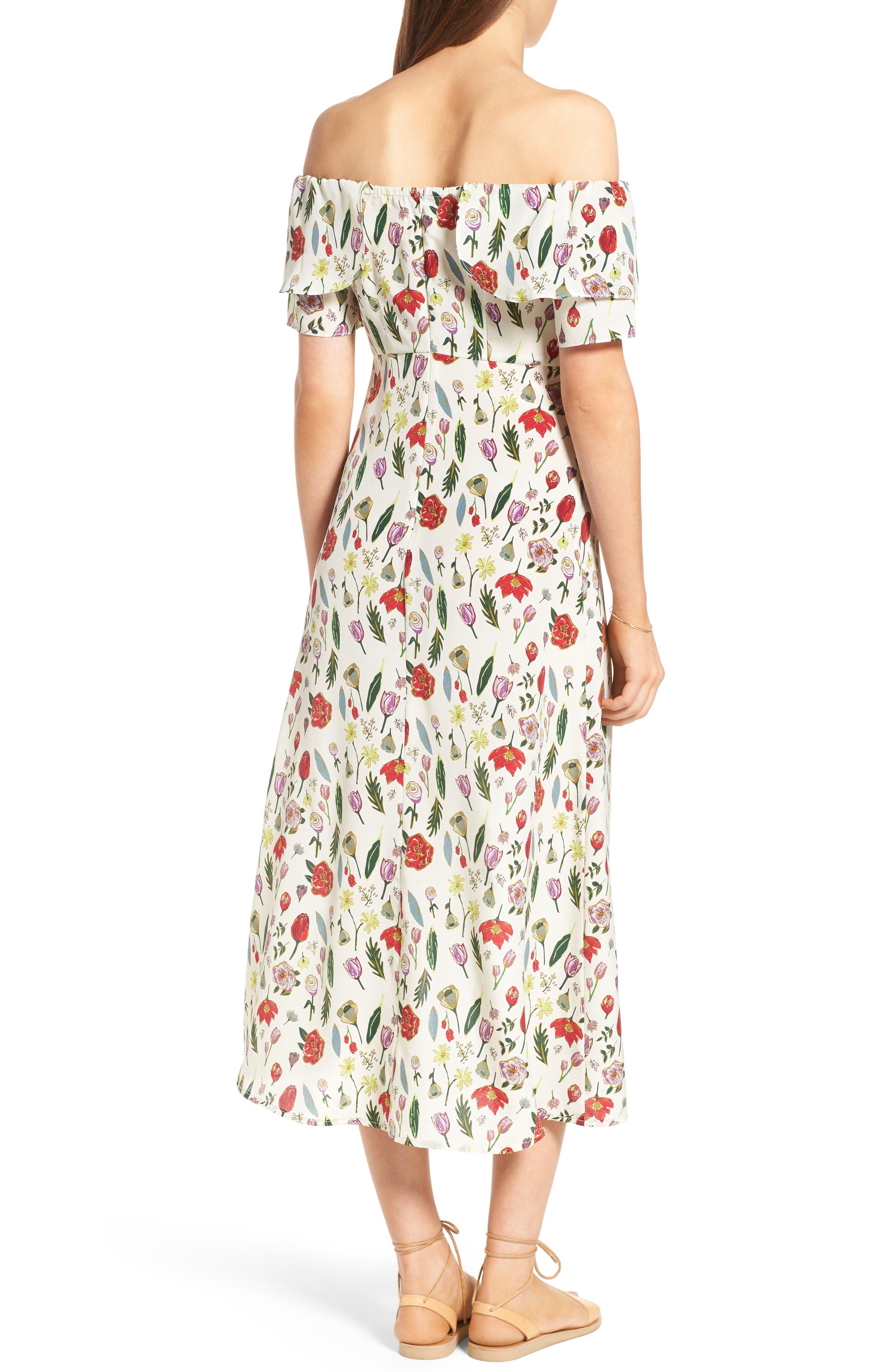 Alternate Image 2  - Stone Cold Fox Versilia Silk Midi Dress