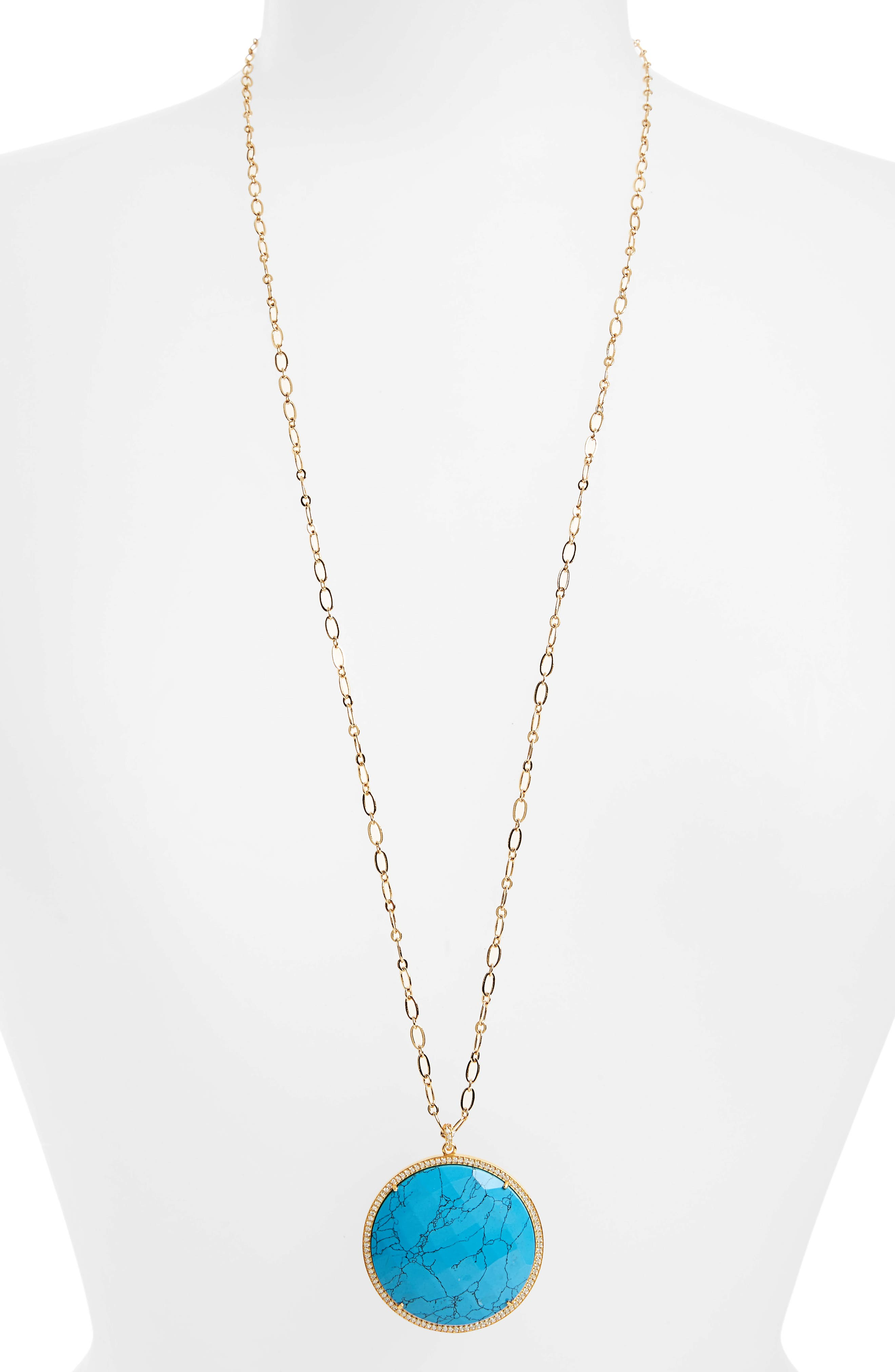 Alternate Image 2  - Susan Hanover Large Semiprecious Stone Pendant Necklace