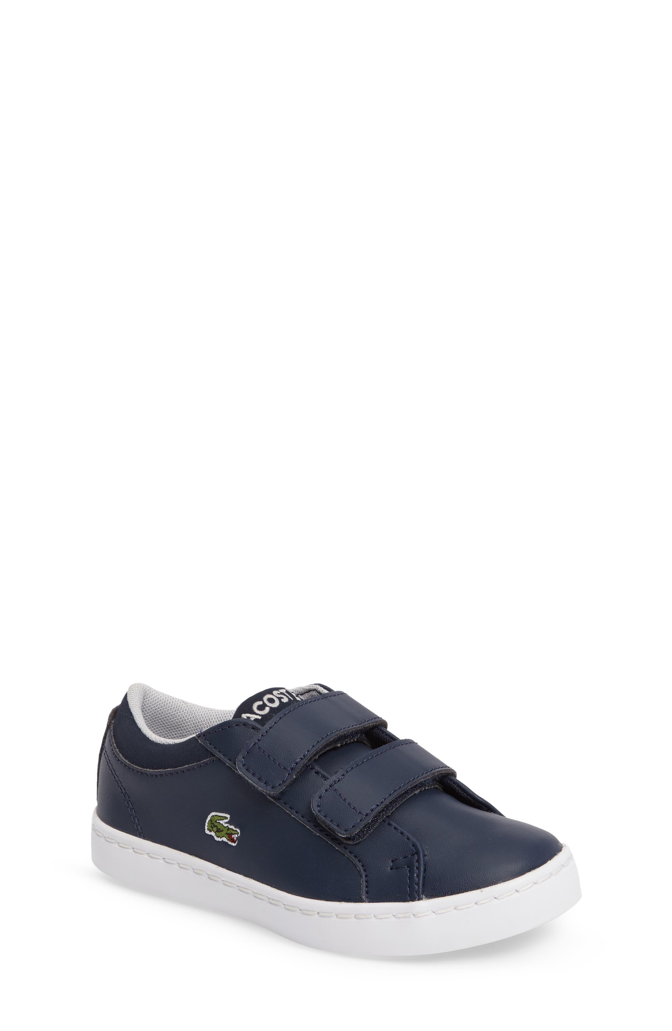 Lacoste Straightset Sneaker (Baby, Walker & Toddler)