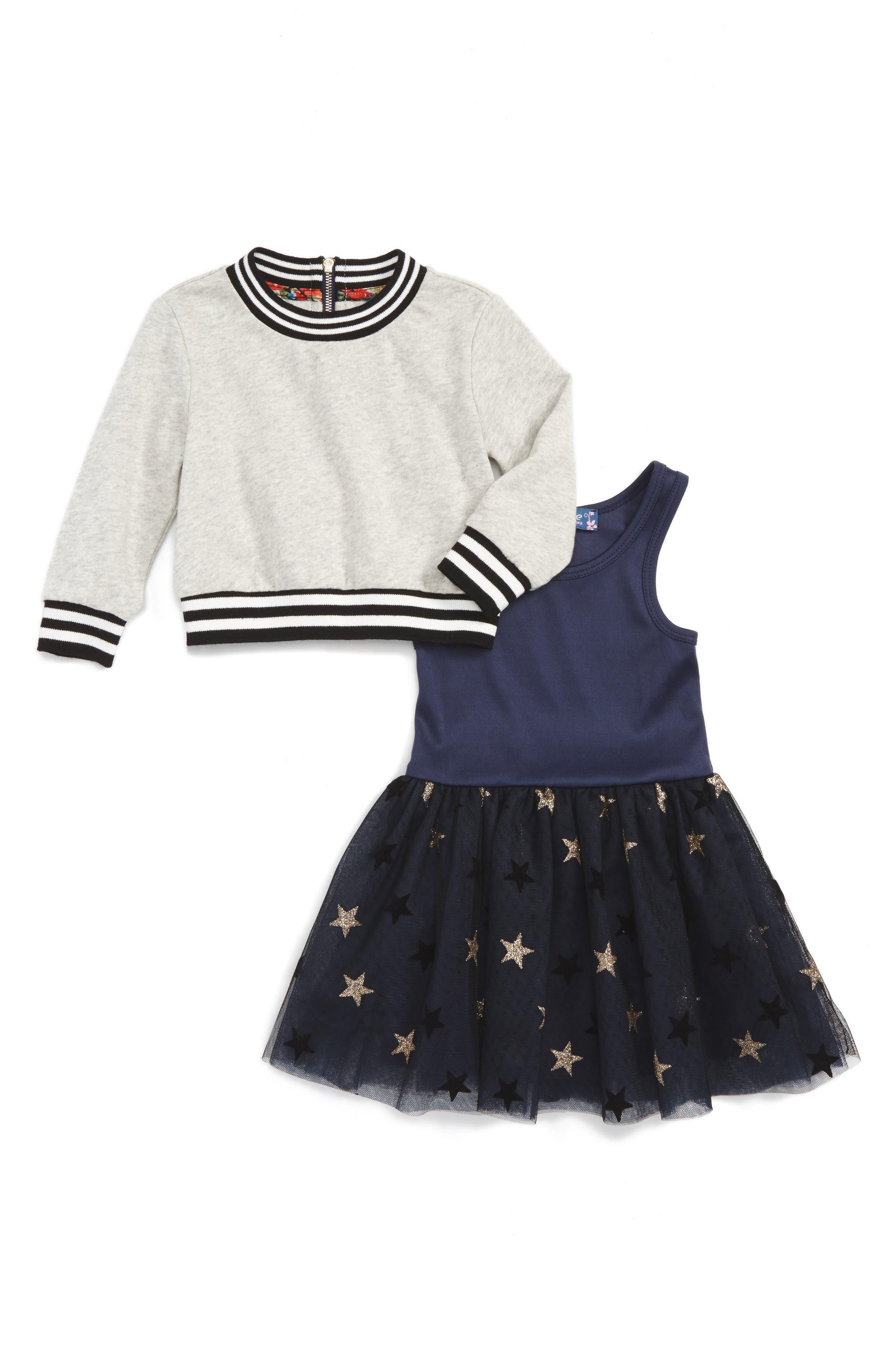 Truly Me Sweatshirt & Tulle Dress Set (Baby Girls)