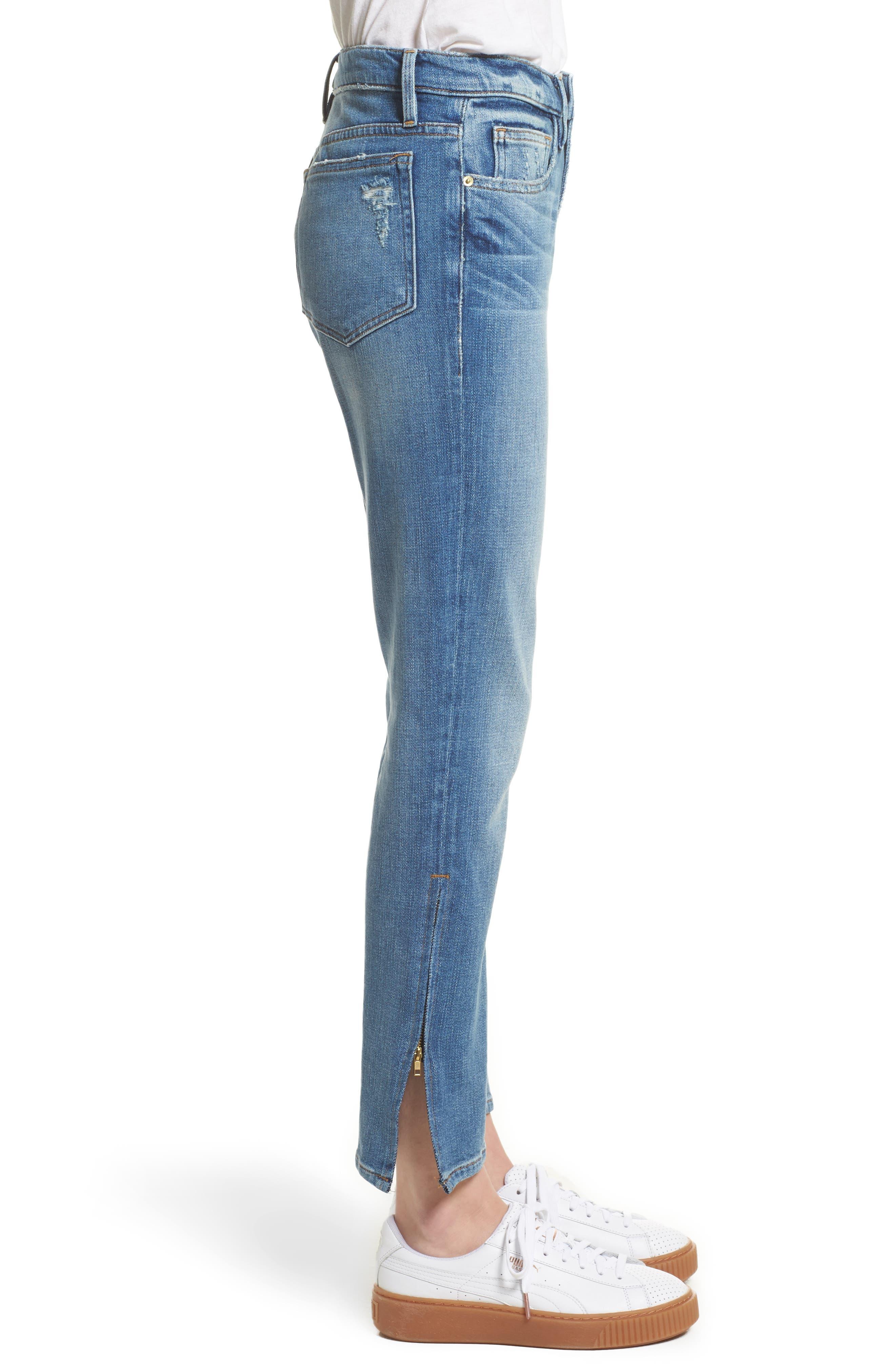 Alternate Image 4  - FRAME Le Boy Zip Hem Crop Jeans (Picadilly) (Nordstrom Exclusive)