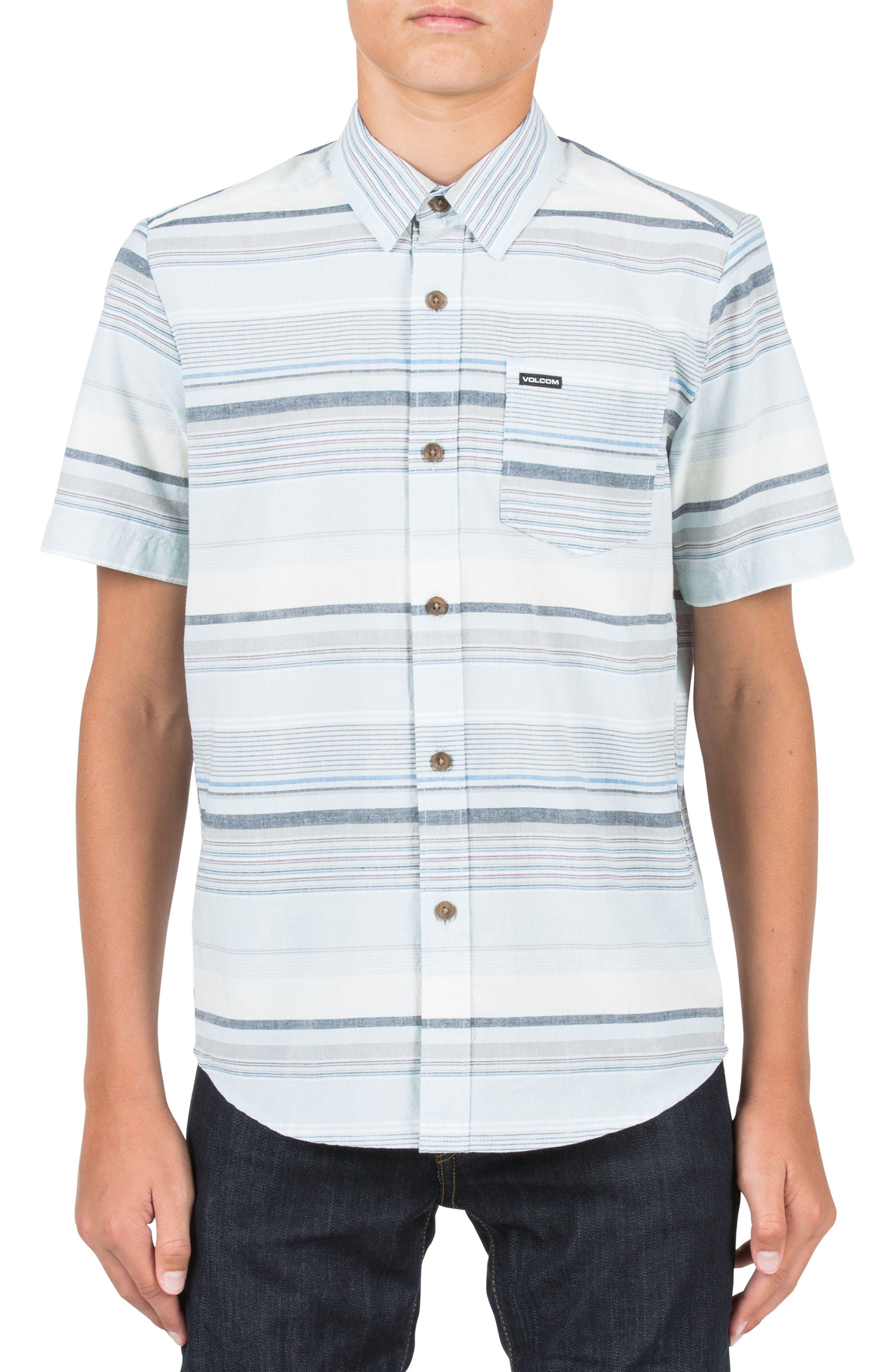 Volcom Rambler Short Sleeve Woven Shirt (Big Boys)