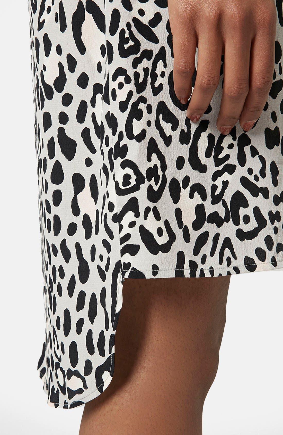 Alternate Image 4  - Topshop Monochrome High Neck Dress