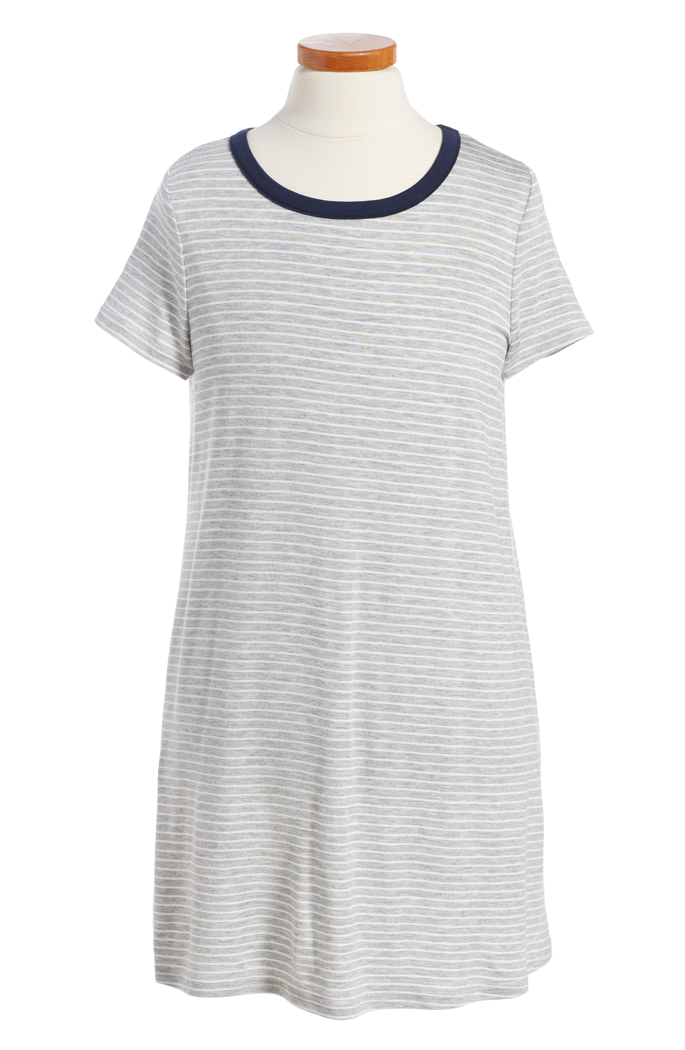 Love, Fire Stripe Ringer Dress (Big Girls)