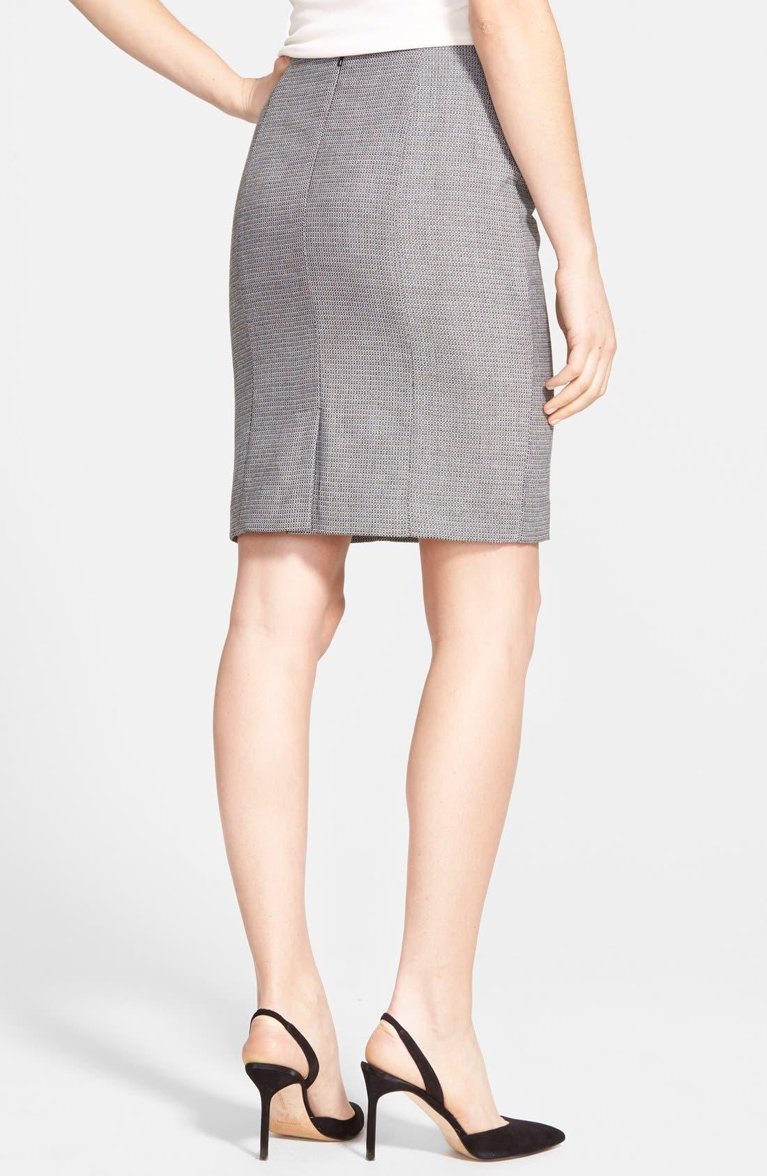 Alternate Image 2  - Halogen® Pencil Suit Skirt (Regular & Petite)