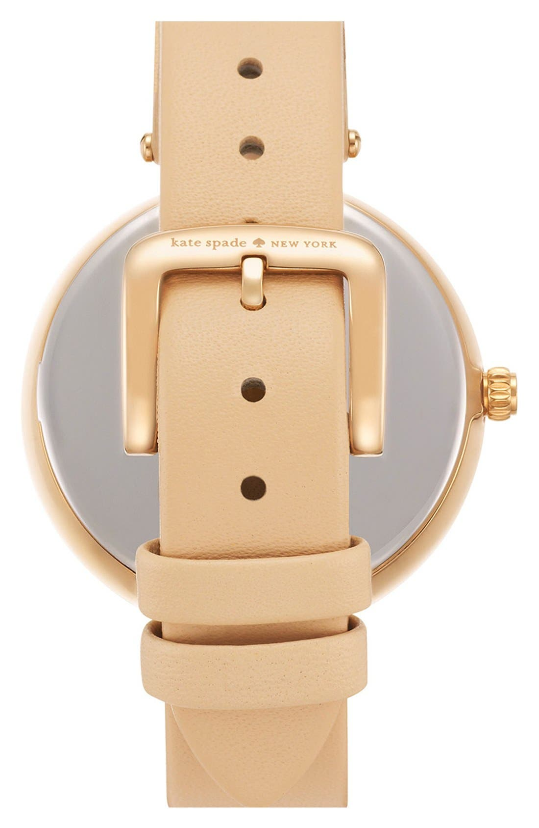 Alternate Image 2  - kate spade new york 'perry' crystal accent leather strap watch, 38mm