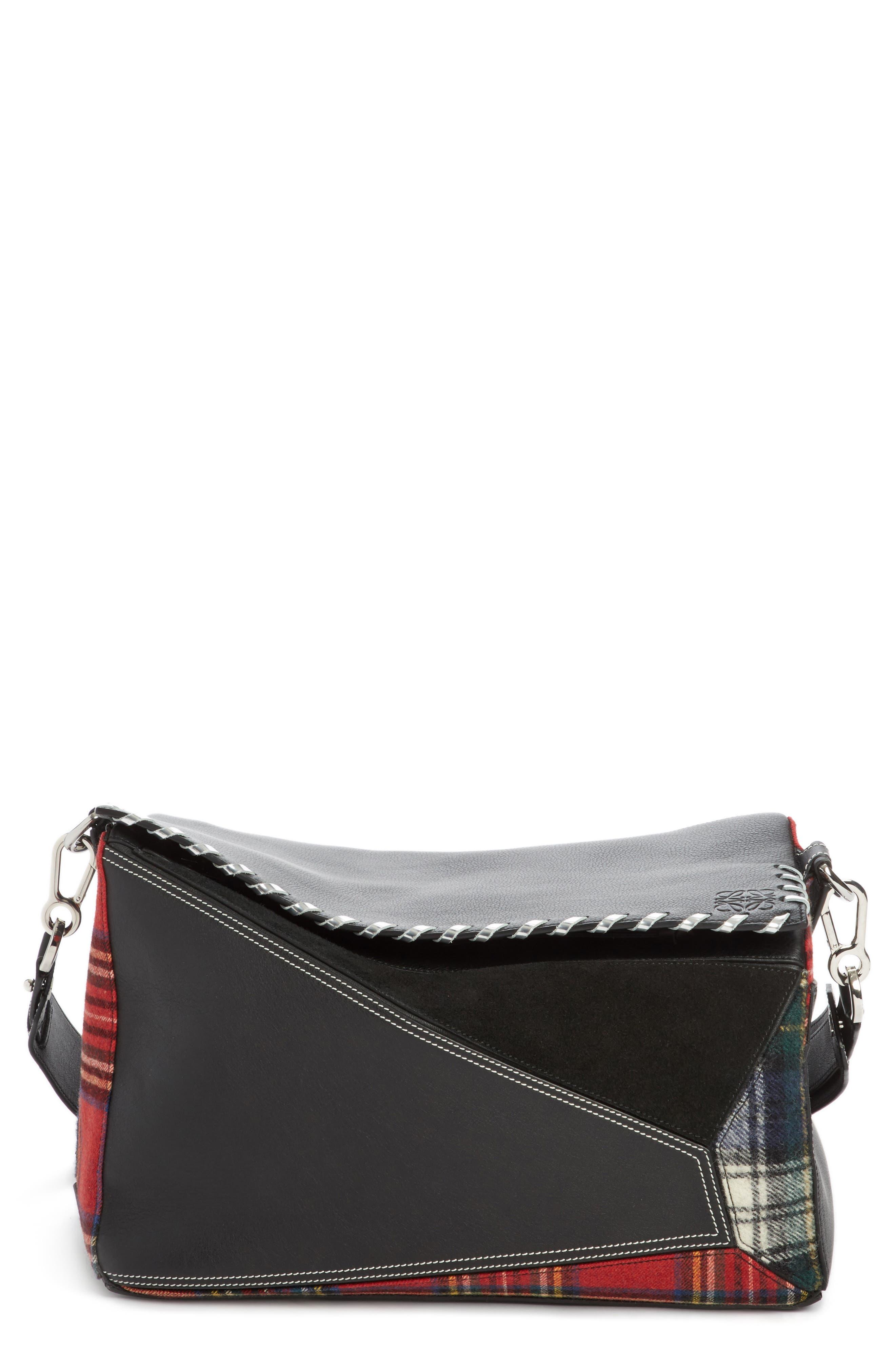 Loewe Medium Multi Tartan Puzzle Bag