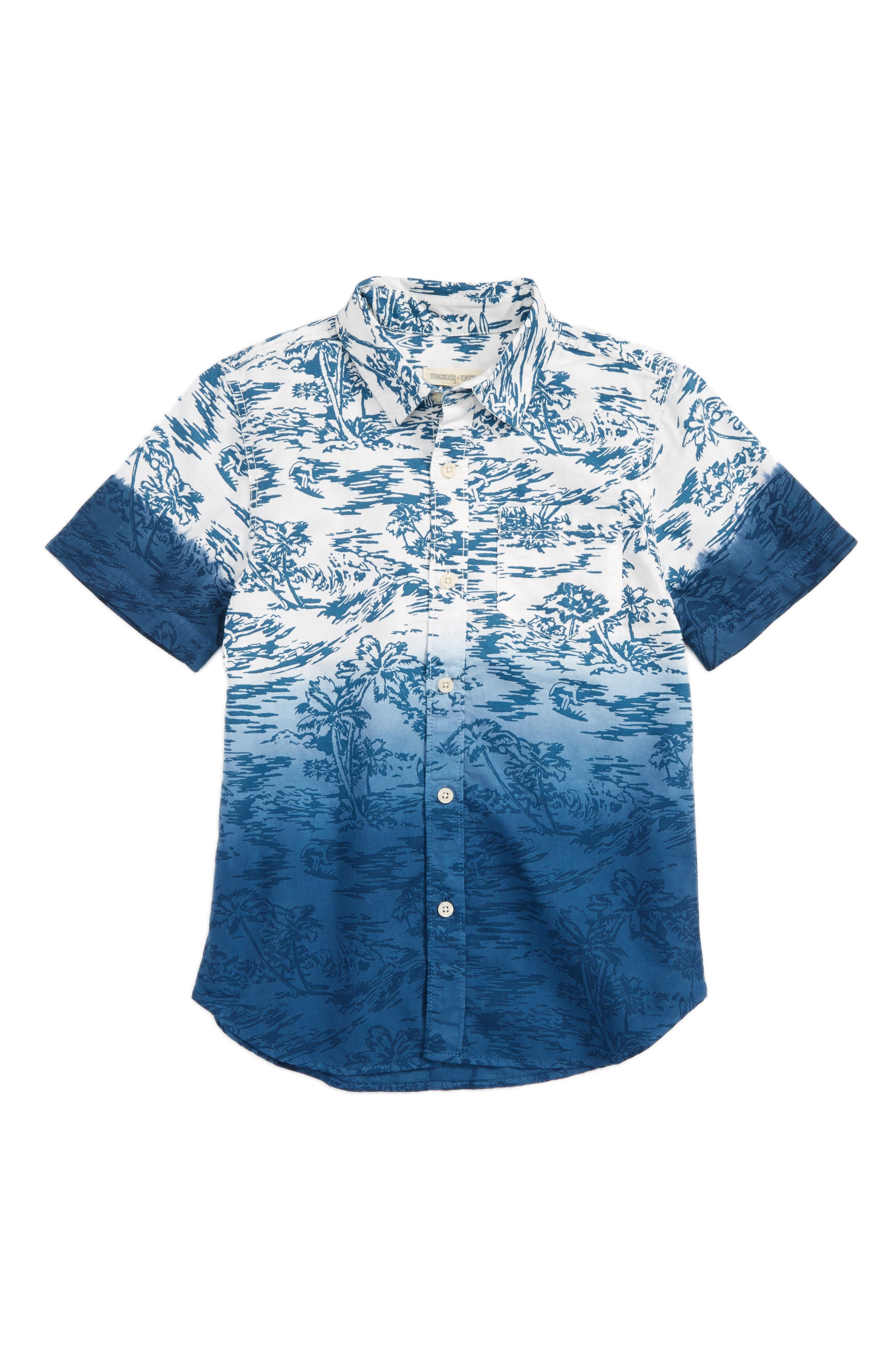 Tucker + Tate Dip Dye Woven Shirt (Big Boys)