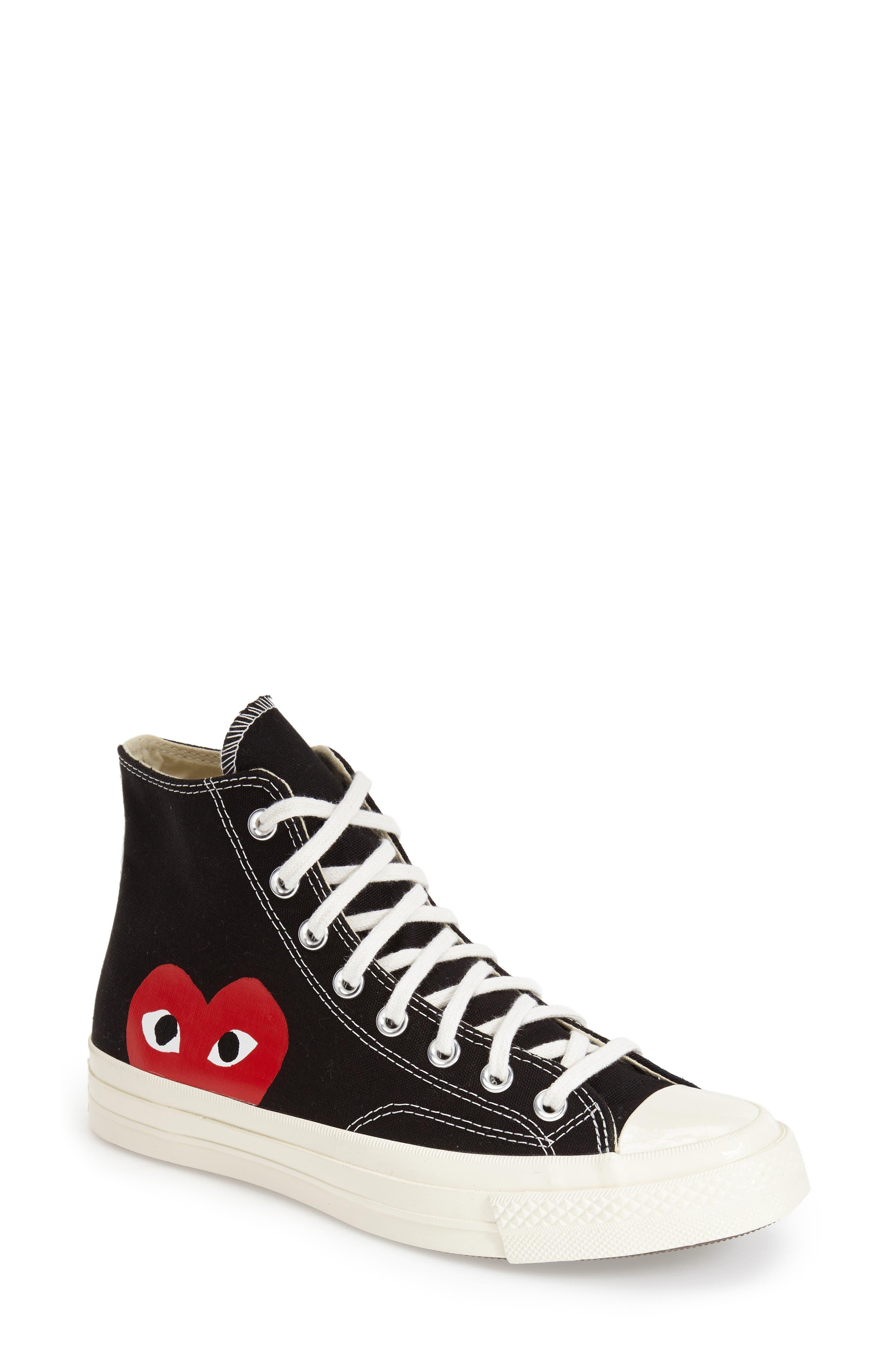 Comme des Garçons PLAY x Converse Chuck Taylor® Hidden Heart High Top Sneaker (Women)