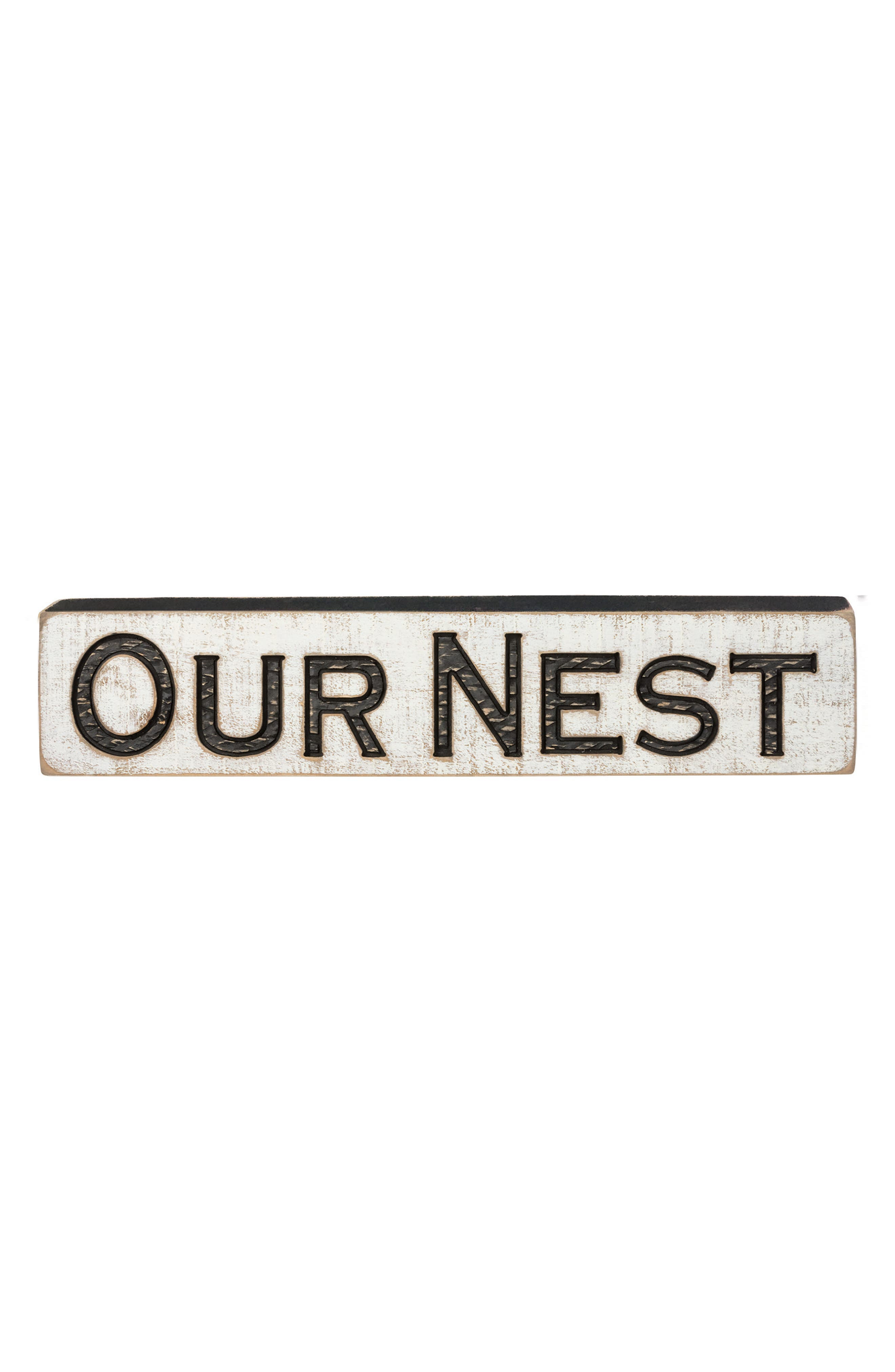 Primitives by Kathy Our Nest Distressed Wood Farmhouse Sign