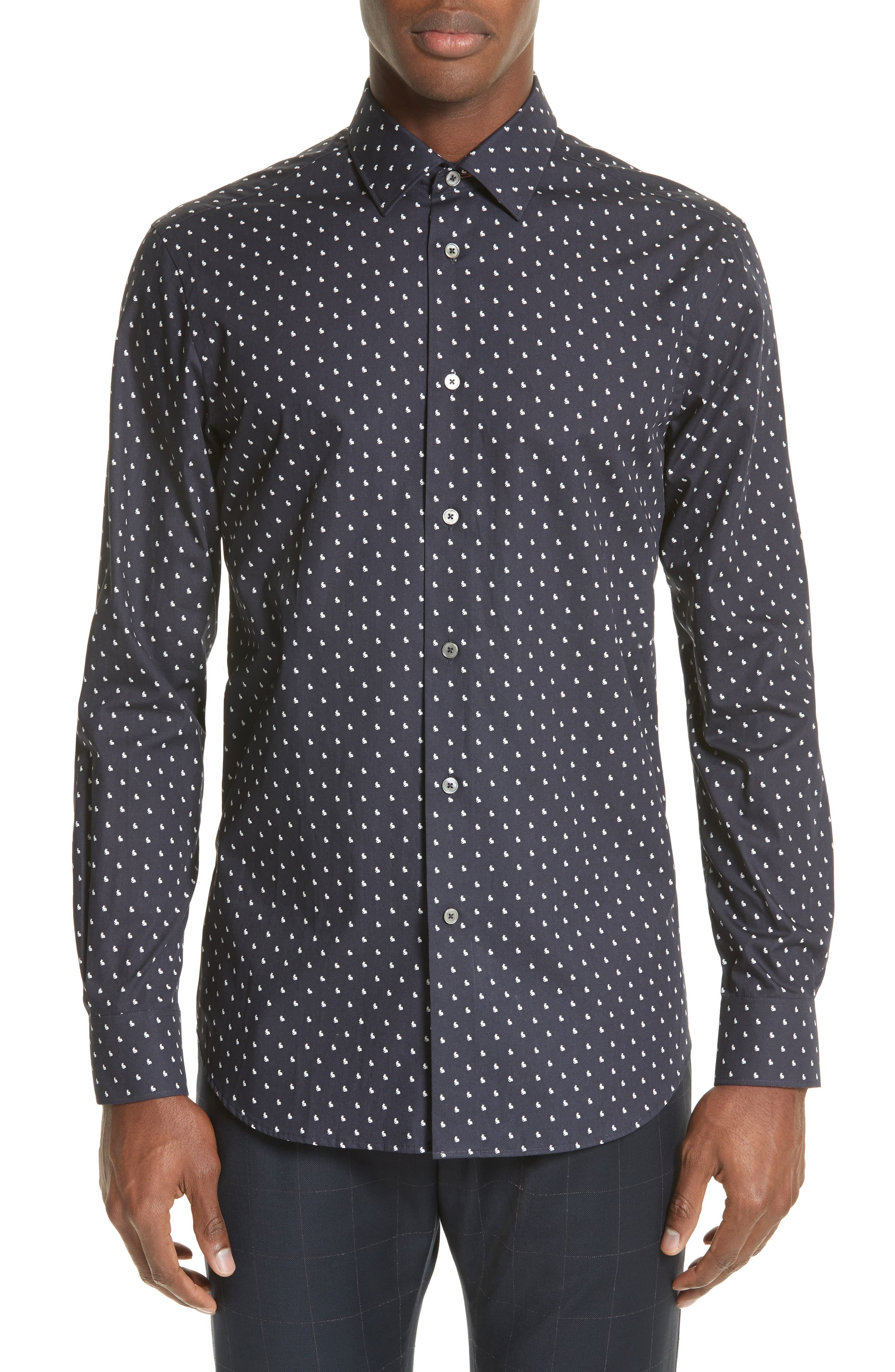 Paul Smith Rabbit Print Sport Shirt