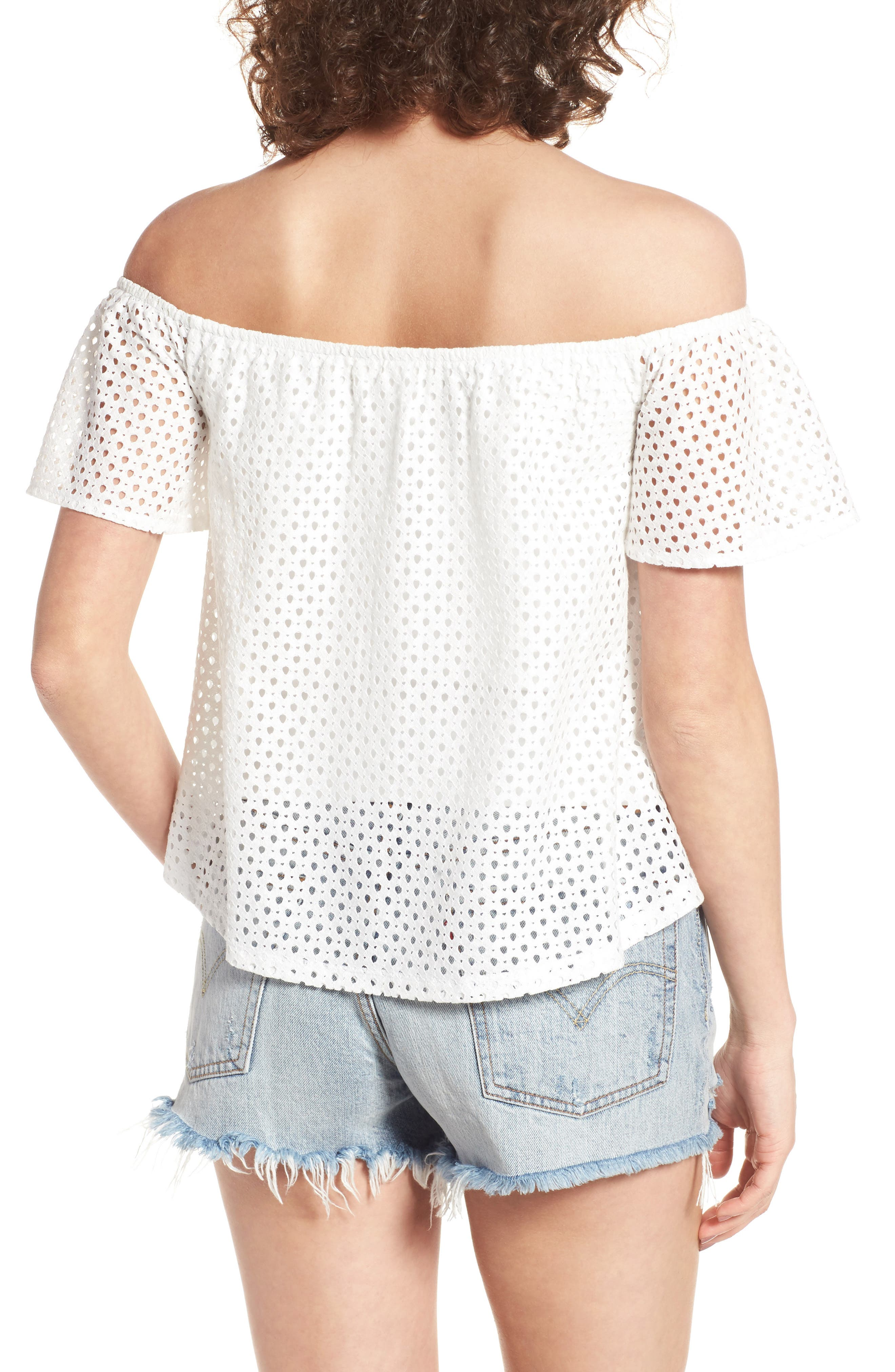 Alternate Image 3  - BP. Eyelet Off the Shoulder Top