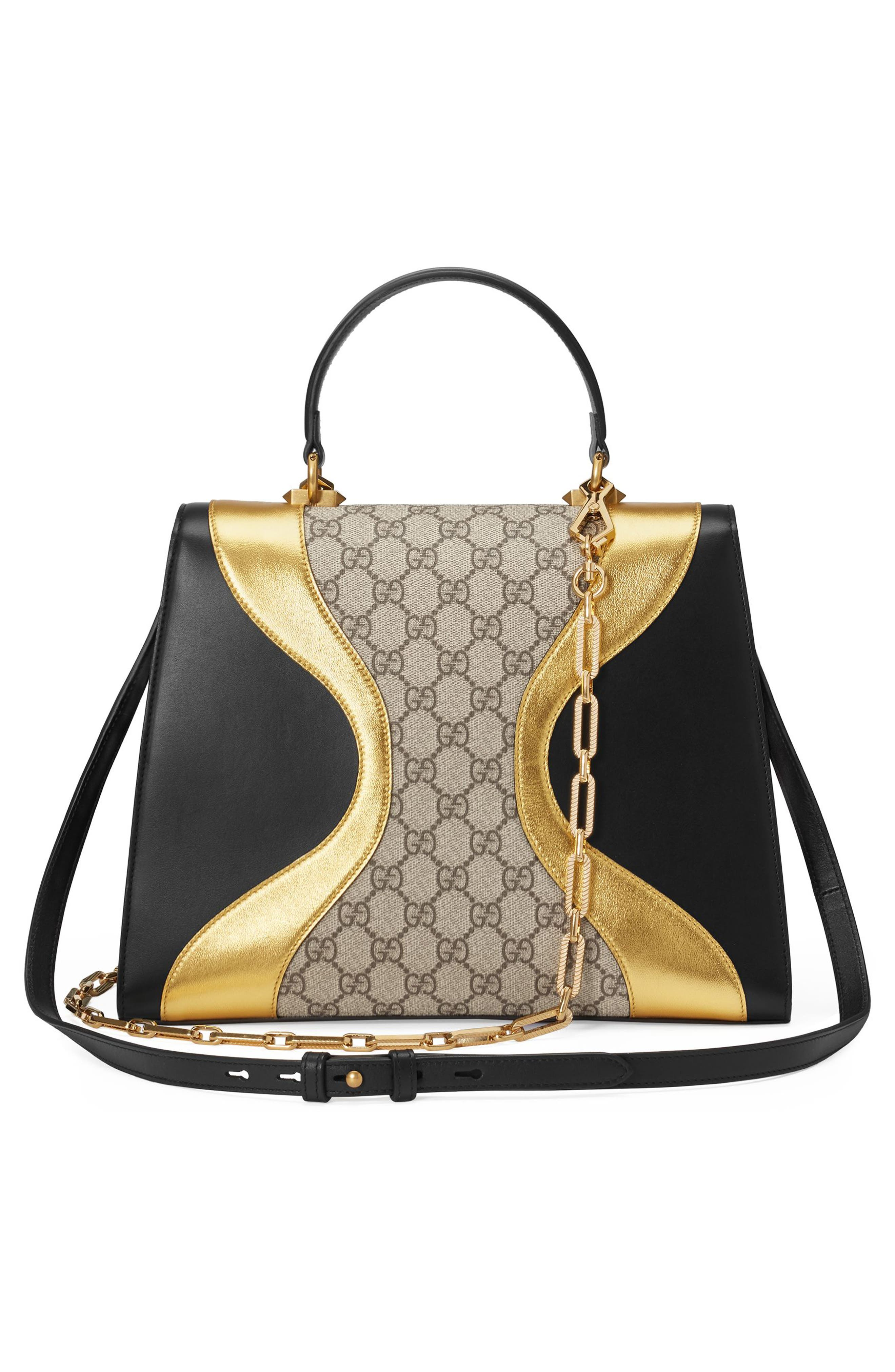 Alternate Image 2  - Gucci Iside Top Handle GG Supreme & Leather Satchel