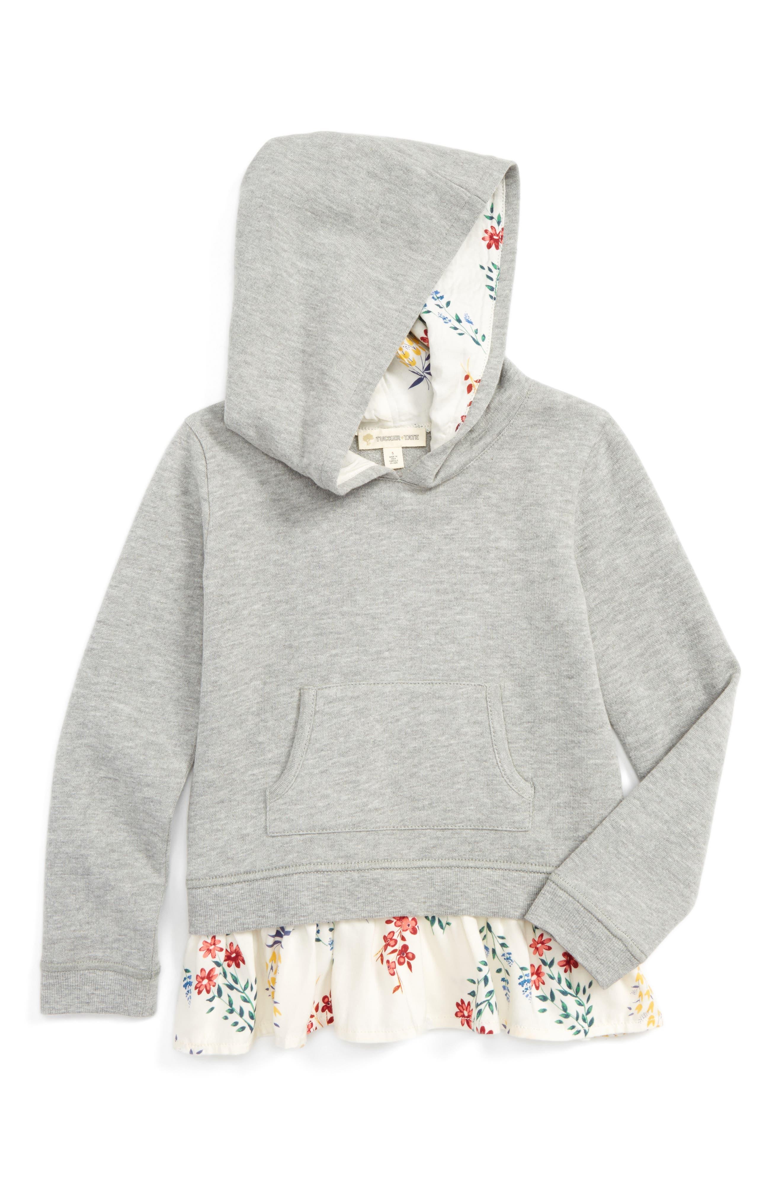 Tucker + Tate Floral Peplum Hoodie (Toddler Girls, Little Girls & Big Girls)