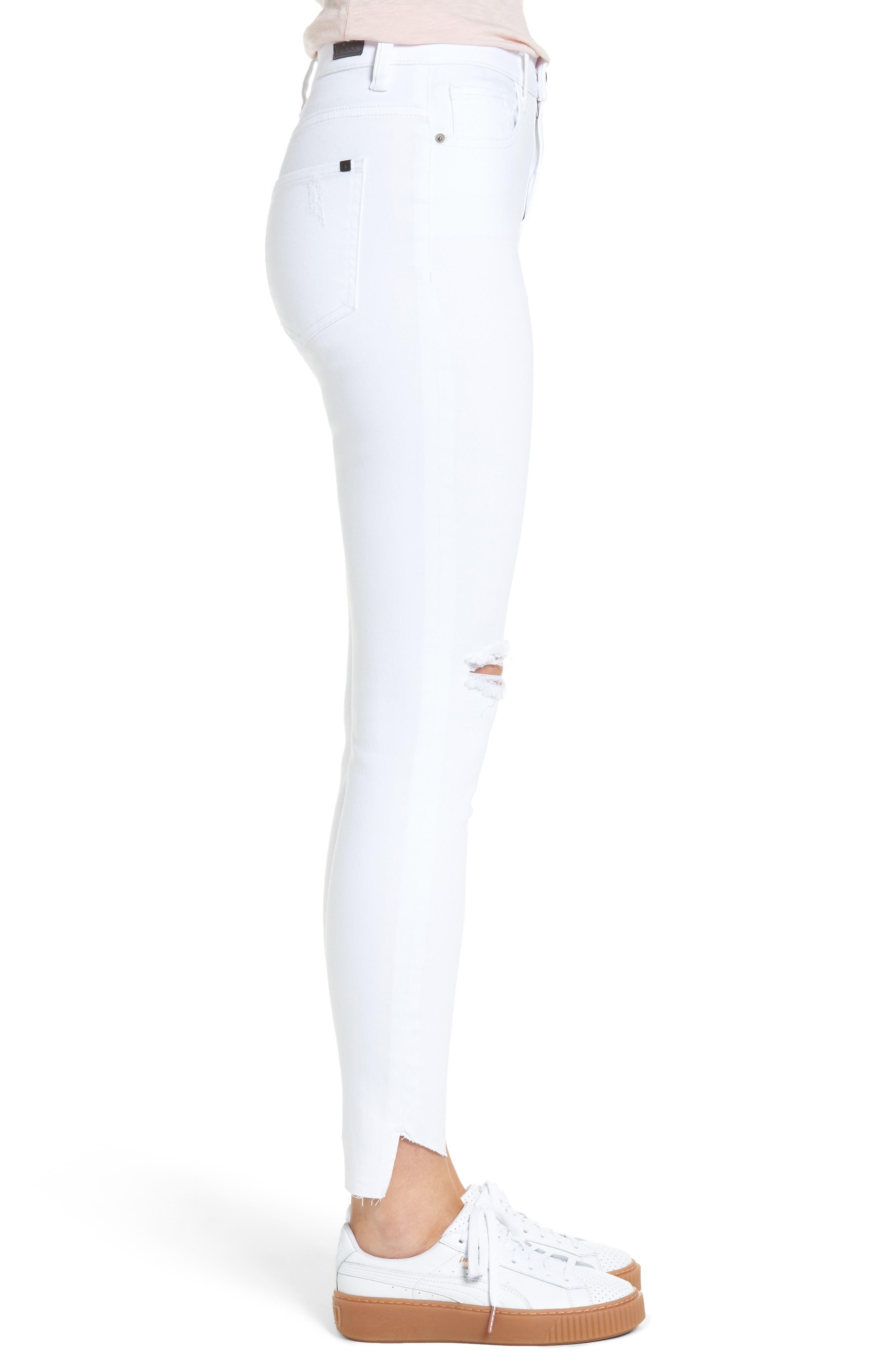 Alternate Image 3  - SP Black Angled Step Hem Skinny Jeans