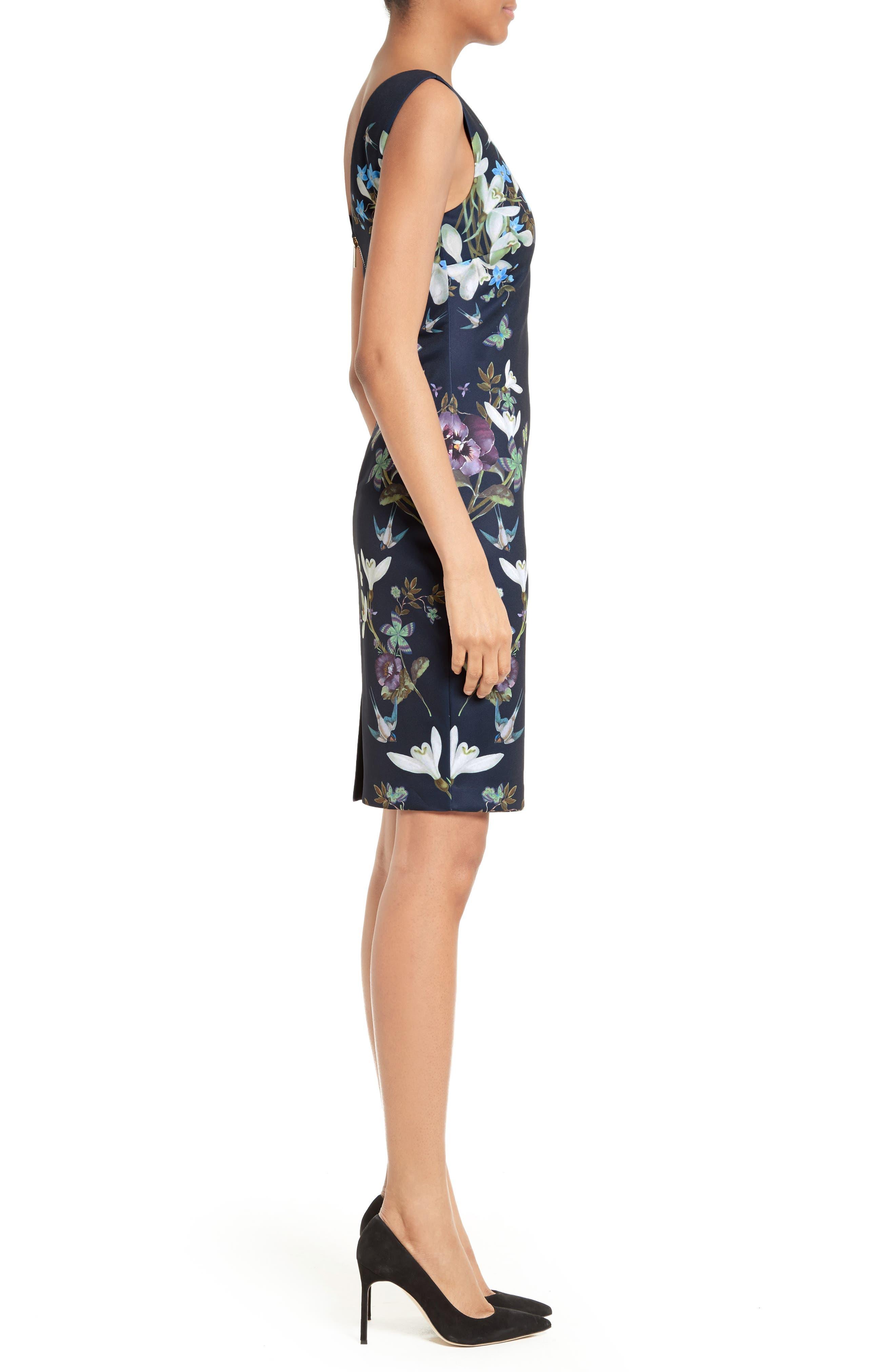 Alternate Image 3  - Ted Baker London Katiey Placed Print Sheath Dress
