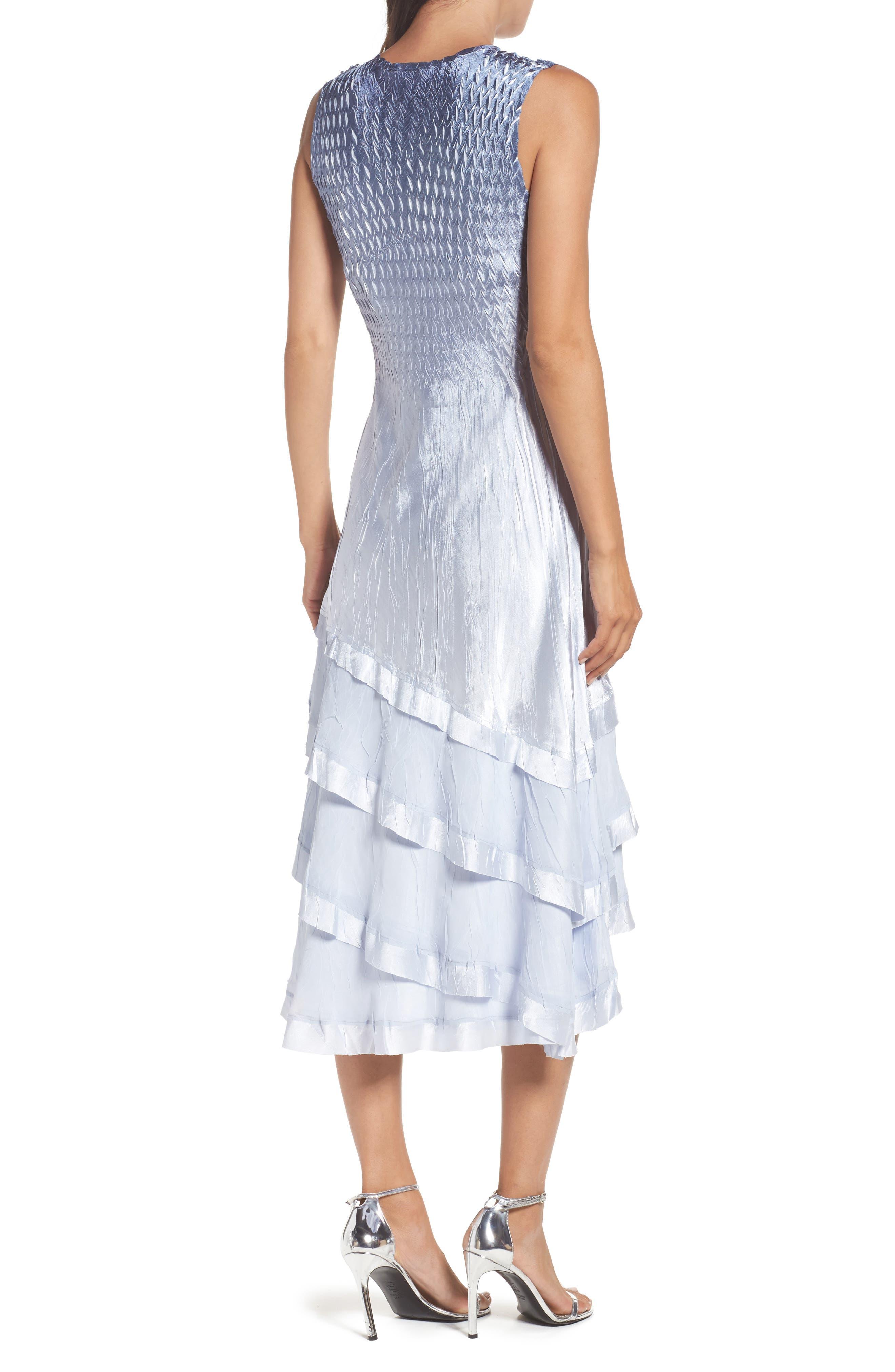 Alternate Image 4  - Komarov Tiered Dress with Jacket (Regular & Petite)