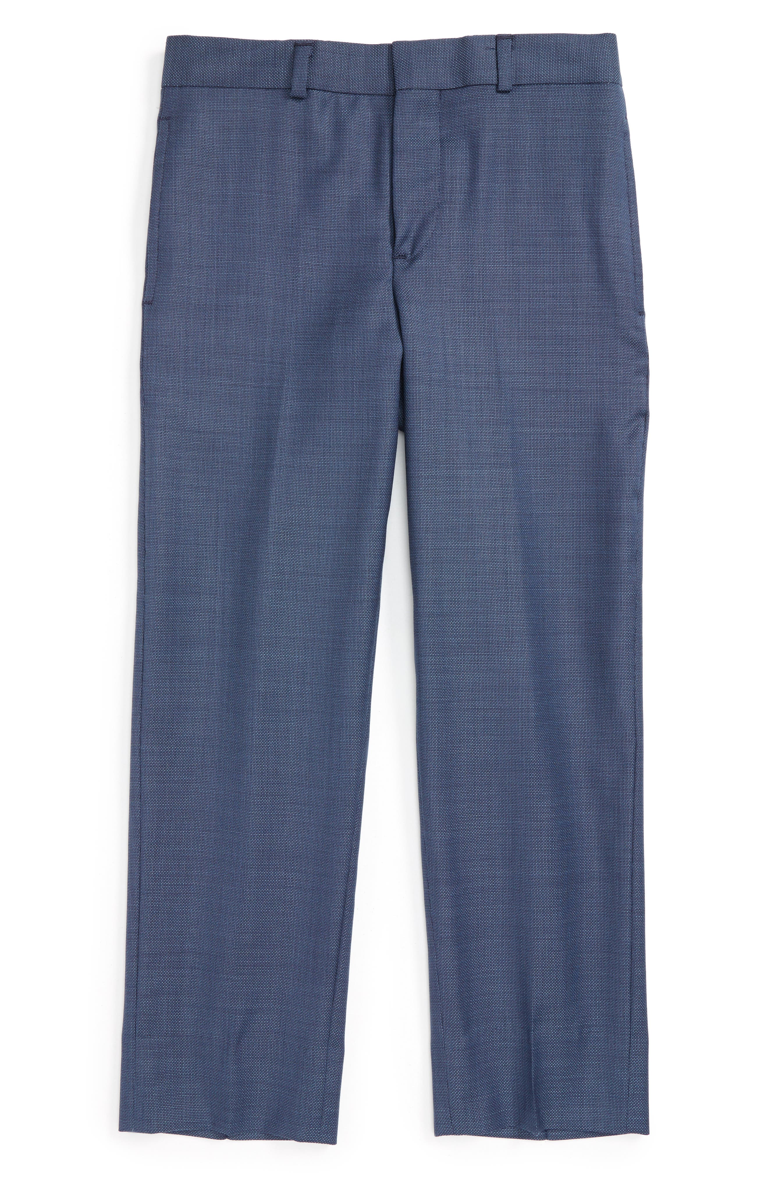 JB Jr Flat Front Wool Trousers (Big Boys)