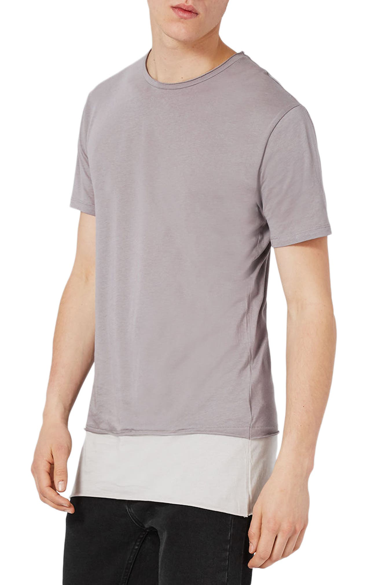 Topman Double Layer Longline T-Shirt