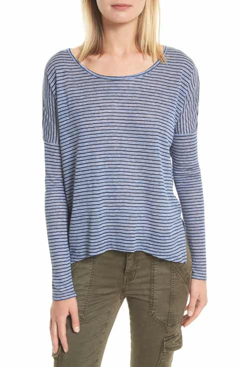 Joie Faya Stripe Linen Sweater