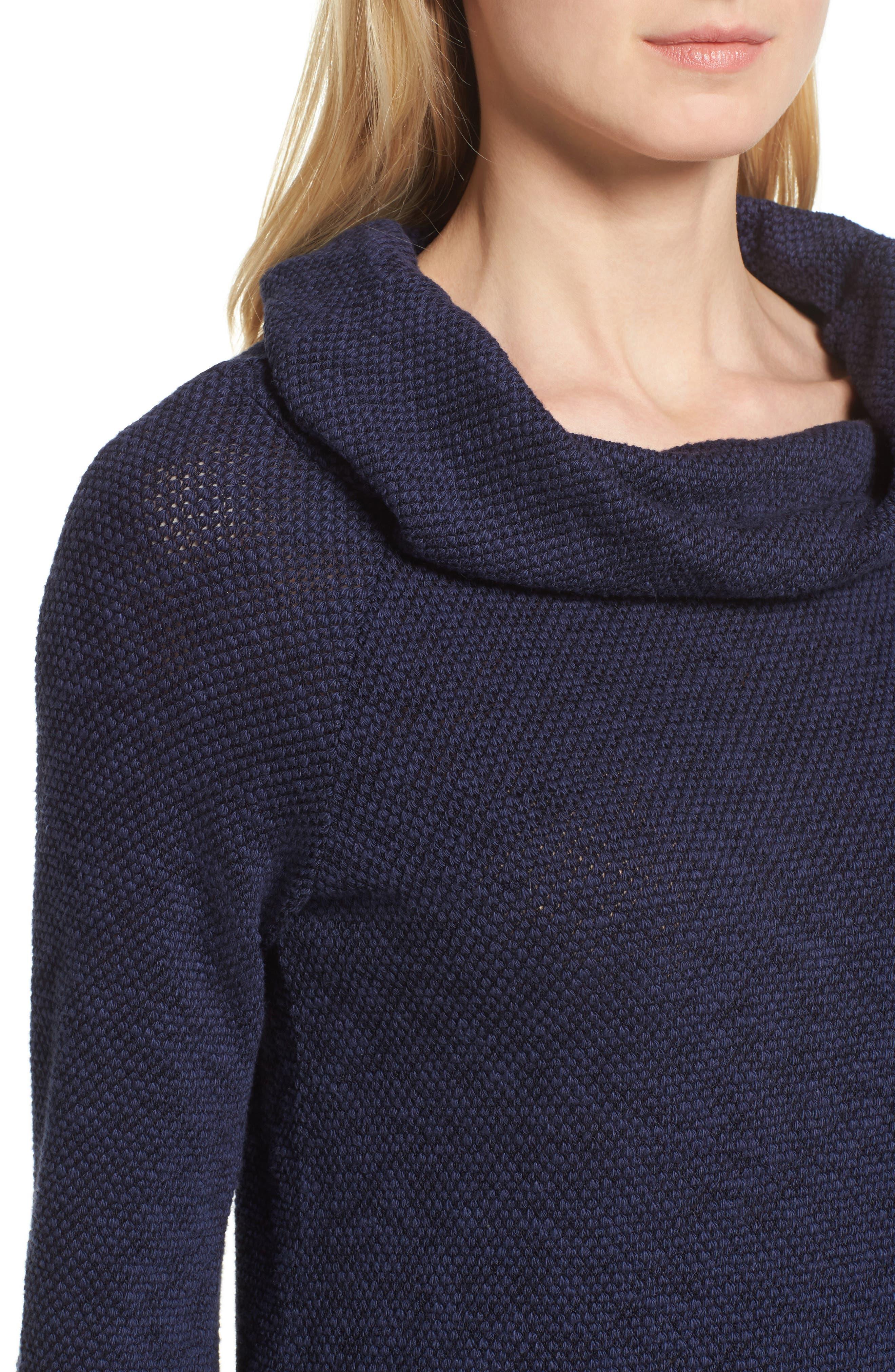 Alternate Image 4  - Caslon® Convertible Off the Shoulder Pullover (Regular & Petite)