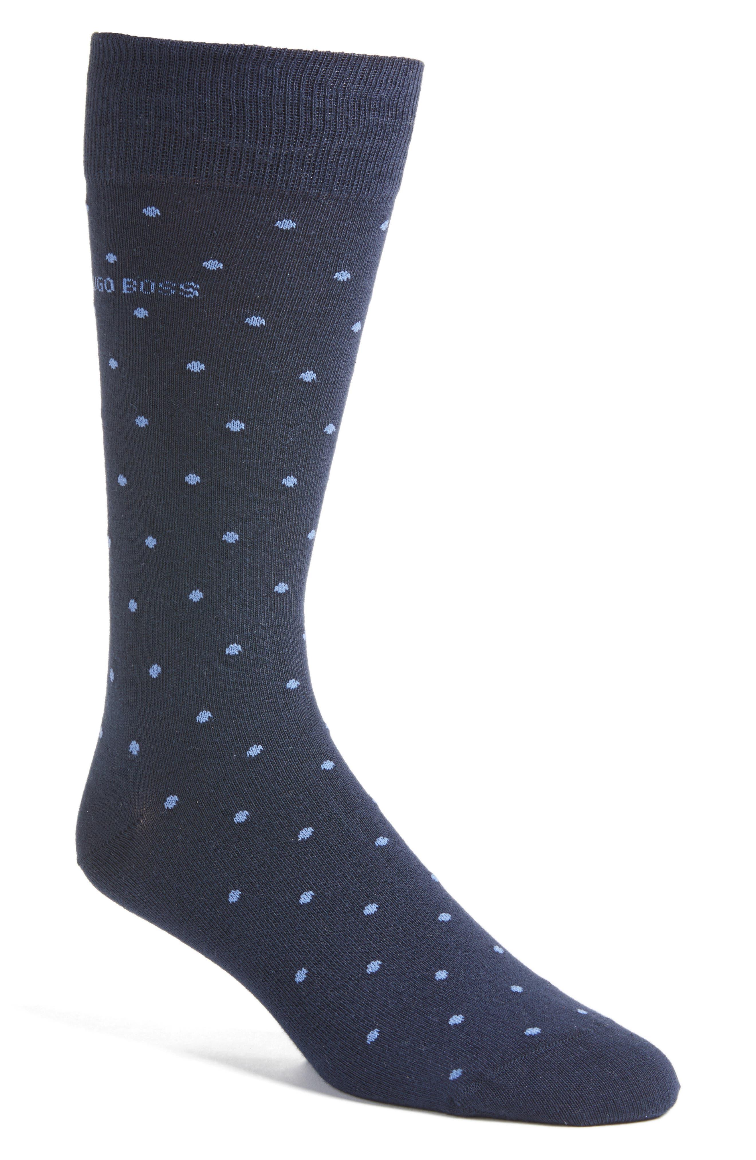 BOSS RS Design Fine Dot Crew Socks