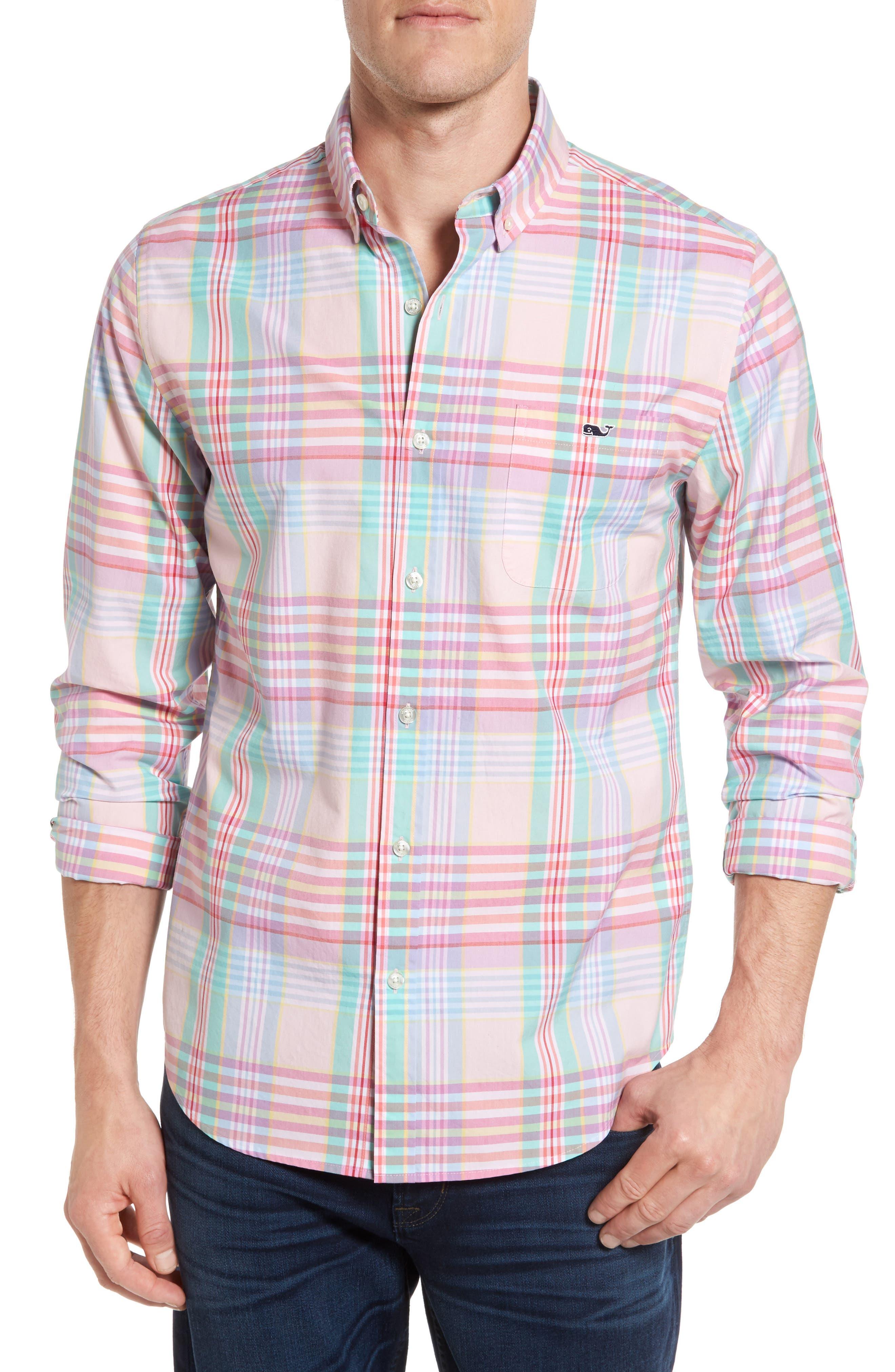 Main Image - Vineyard Vines Slim Fit Tucker Plaid Sport Shirt