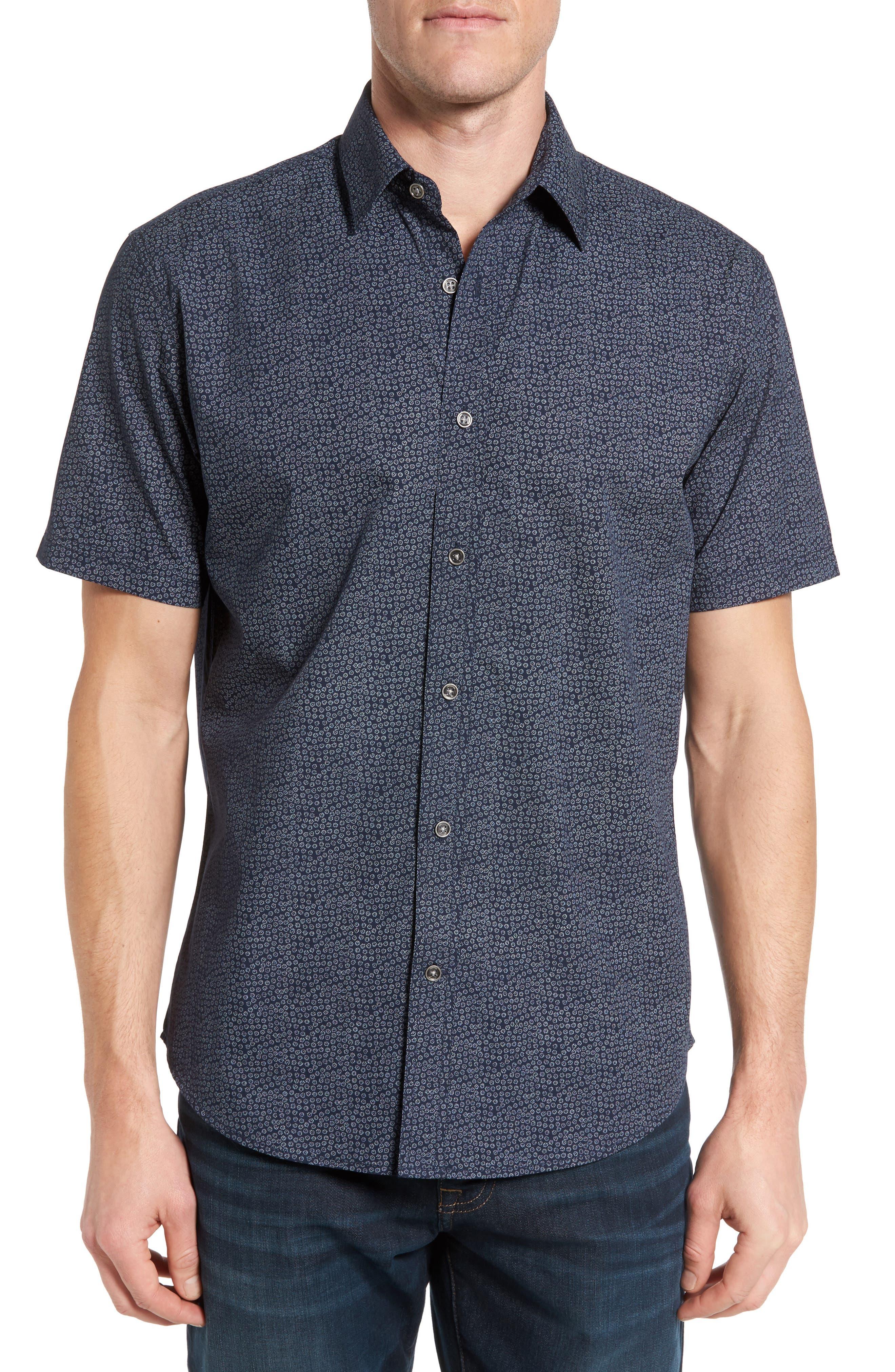 James Campbell Lorenzo Regular Fit Short Sleeve Sport Shirt