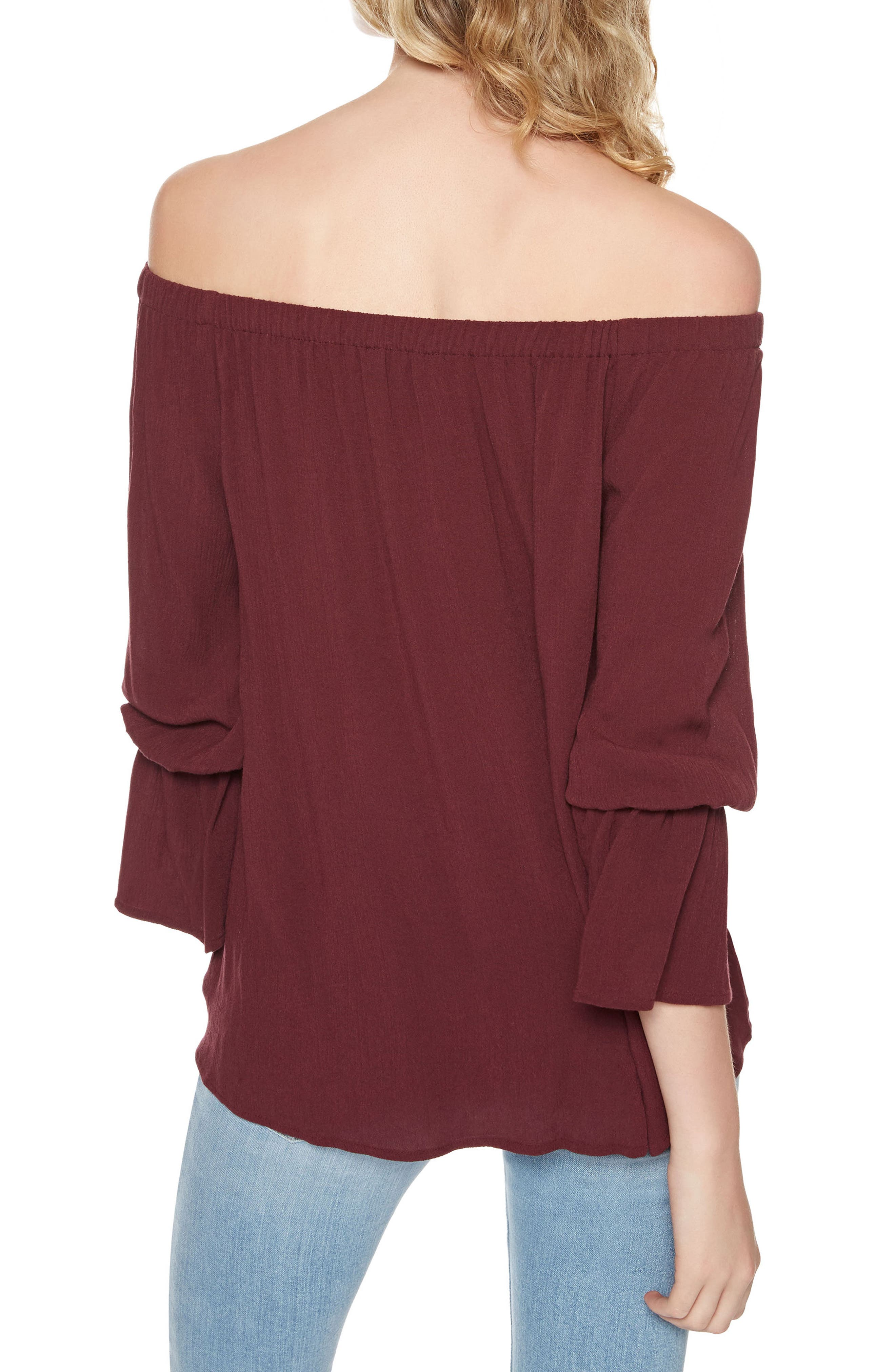 Alternate Image 2  - Sanctuary Off the Shoulder Blouse (Regular & Petite)