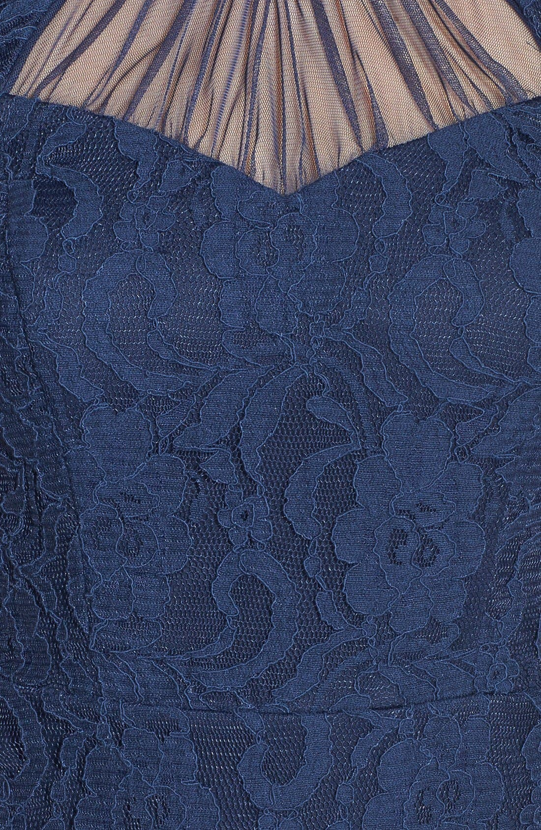 Alternate Image 3  - Way-In Illusion Neckline Lace Body-Con Dress (Juniors)