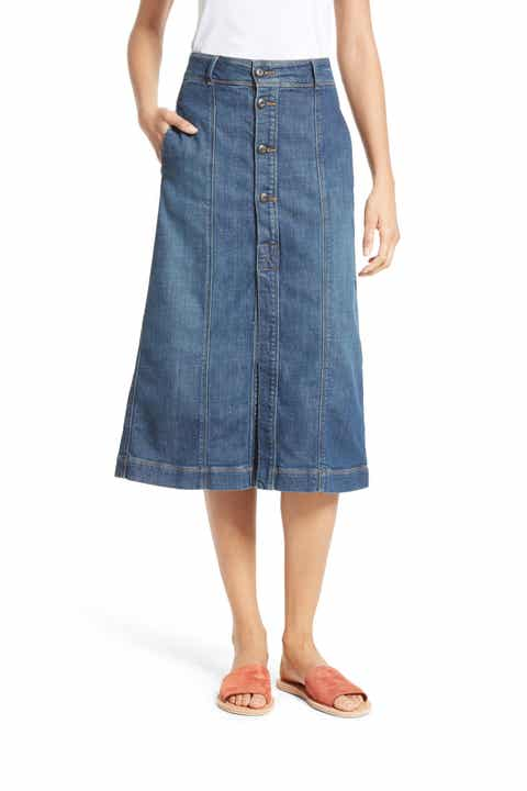 Frame Denim Women's Skirts Clothing | Nordstrom