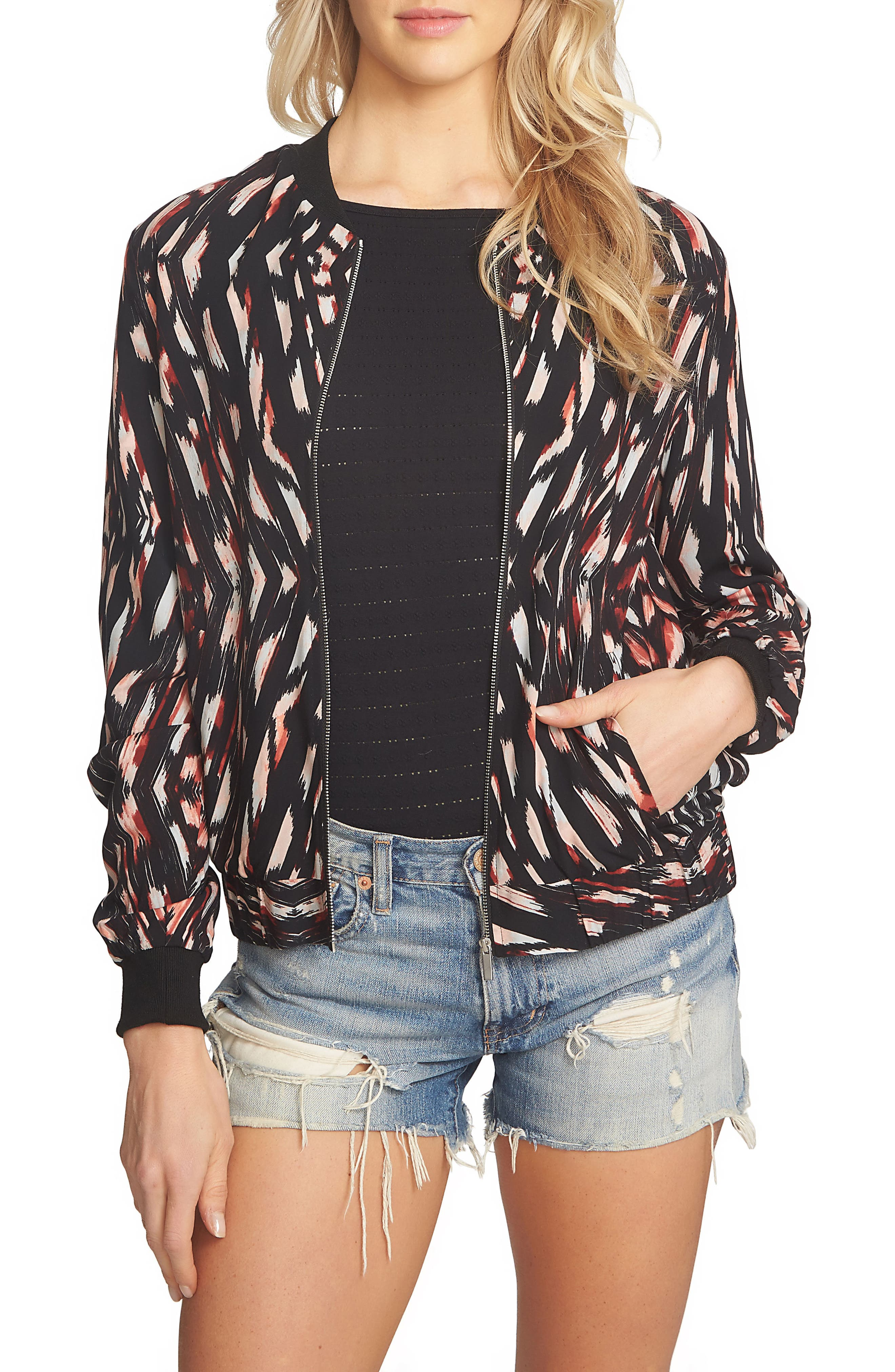 1.STATE Print Bomber Jacket