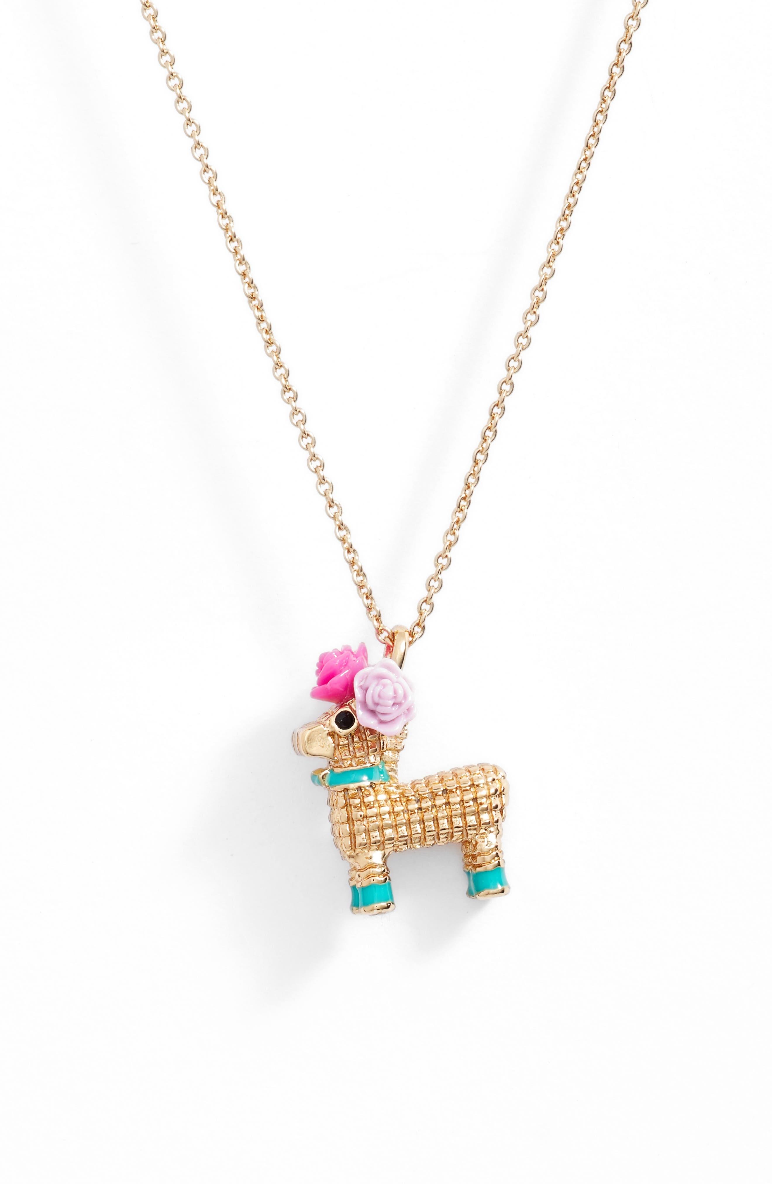 kate spade new york haute stuff piñata pendant necklace