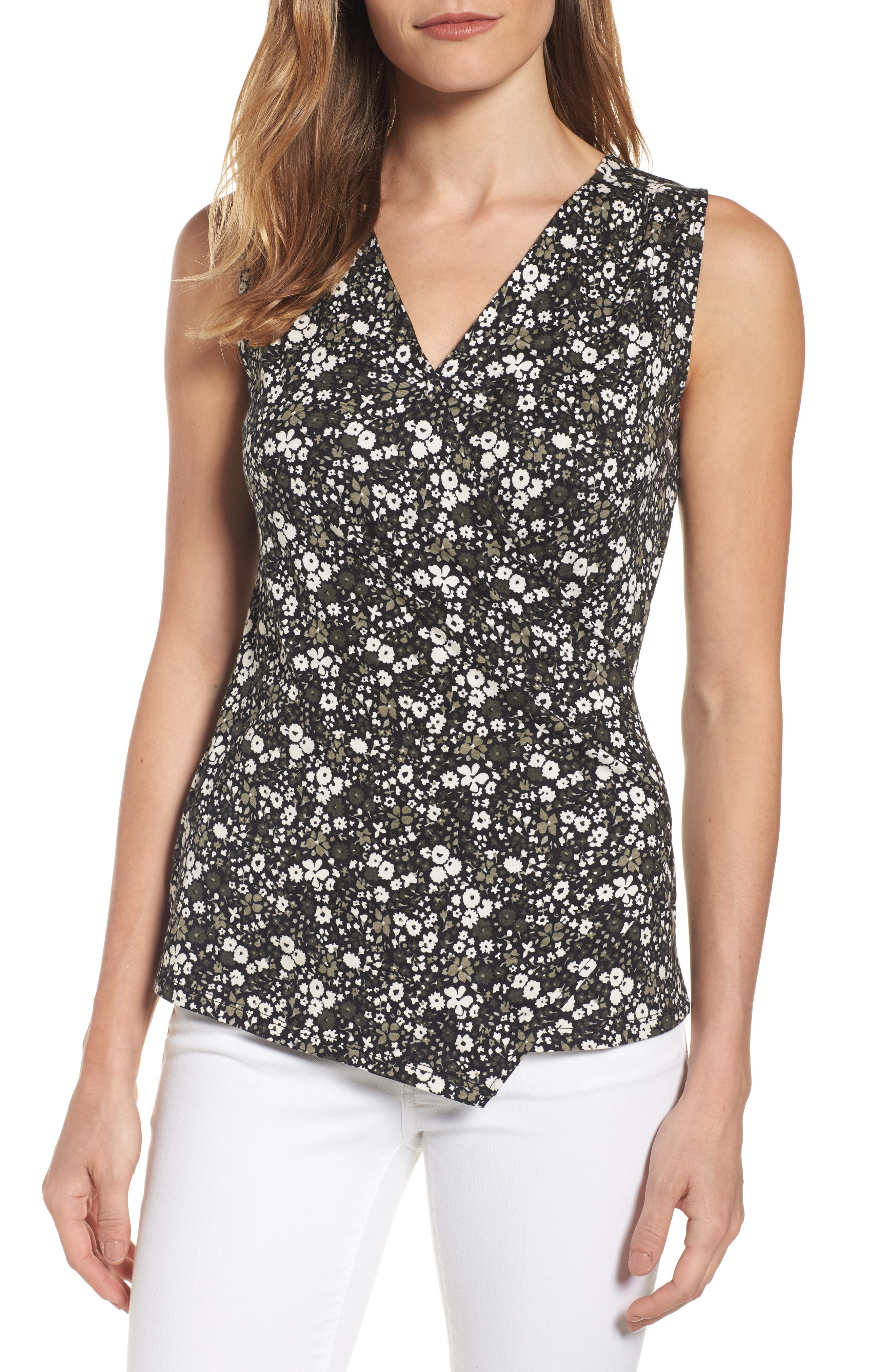 MICHAEL Michael Kors Brooks Flounce Front Top