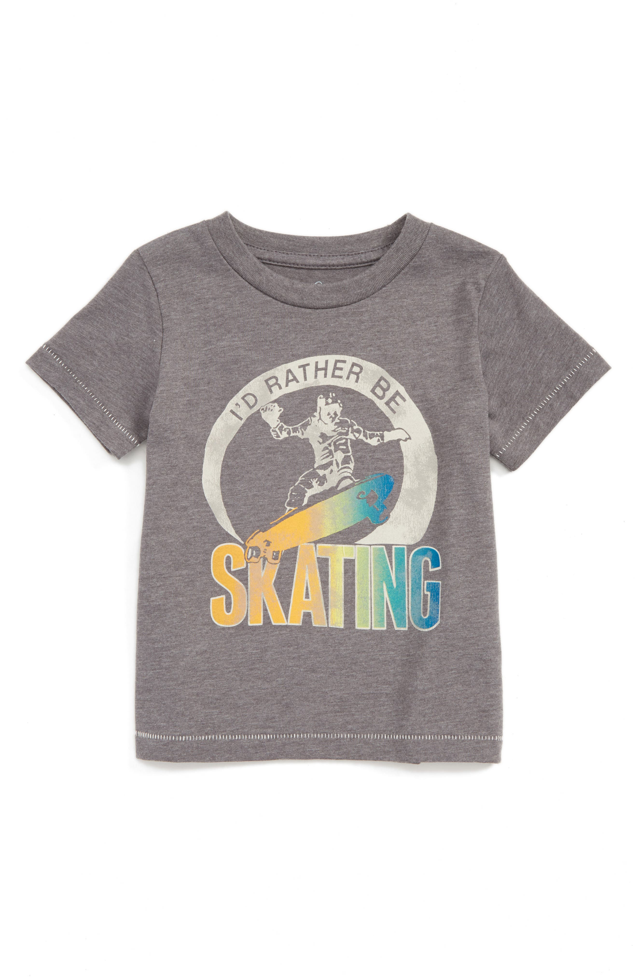 Peek I'd Rather Be Skating Graphic T-Shirt (Baby Boys)