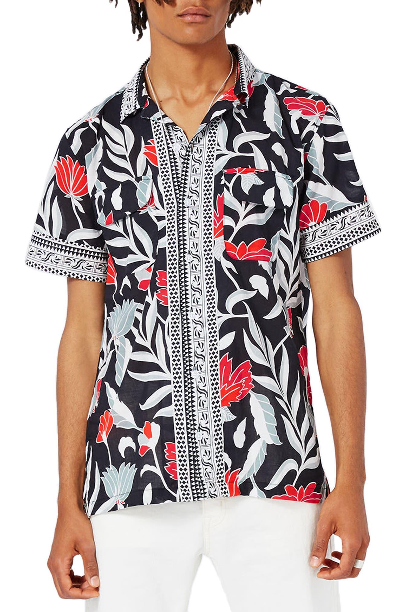 Topman Print Shirt