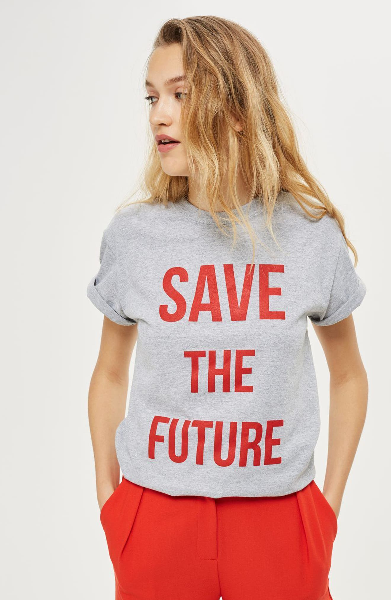 Alternate Image 2  - Topshop Save the Future Tee