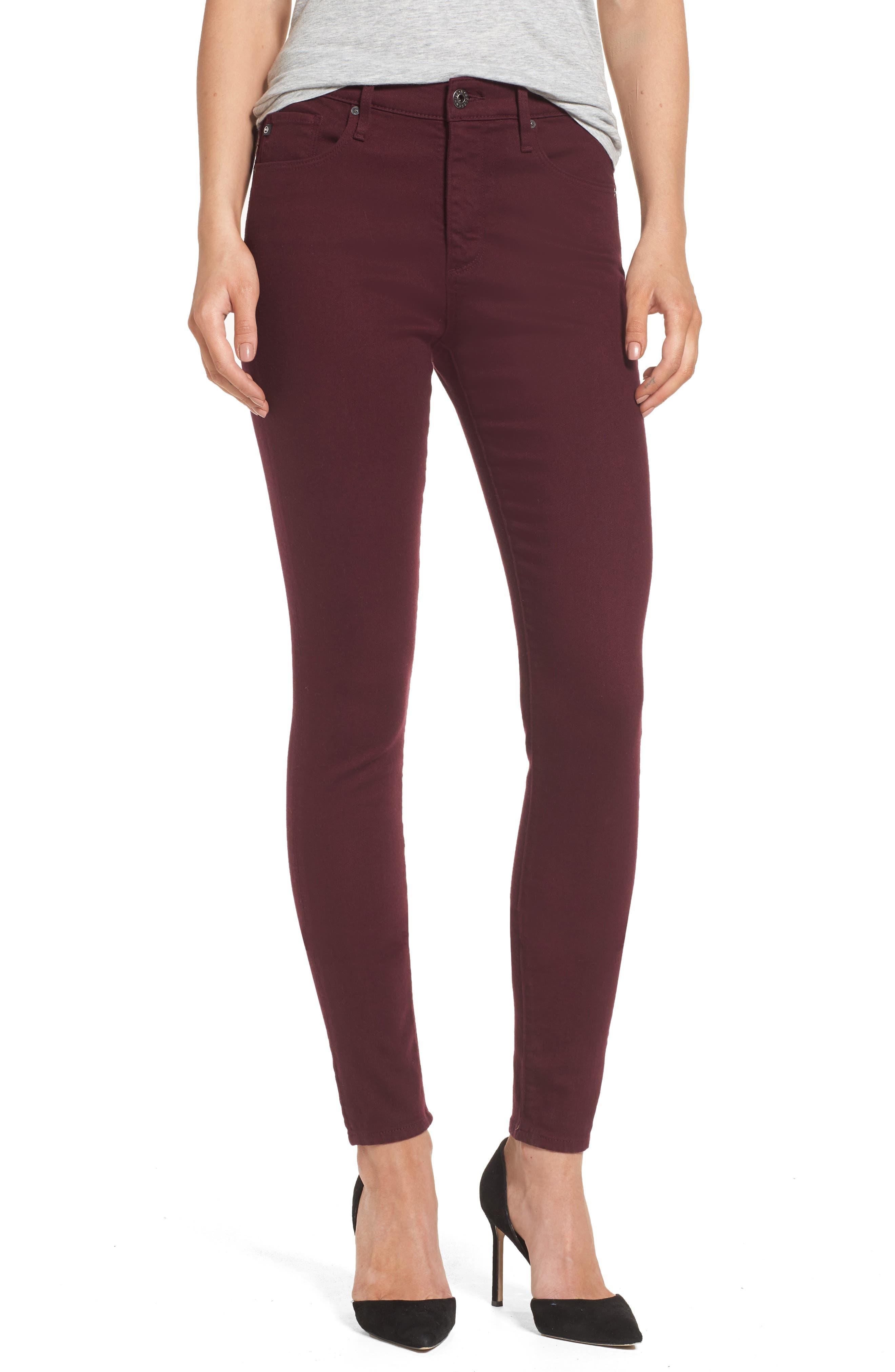 AG Farrah High Waist Skinny Jeans (Deep Currant)