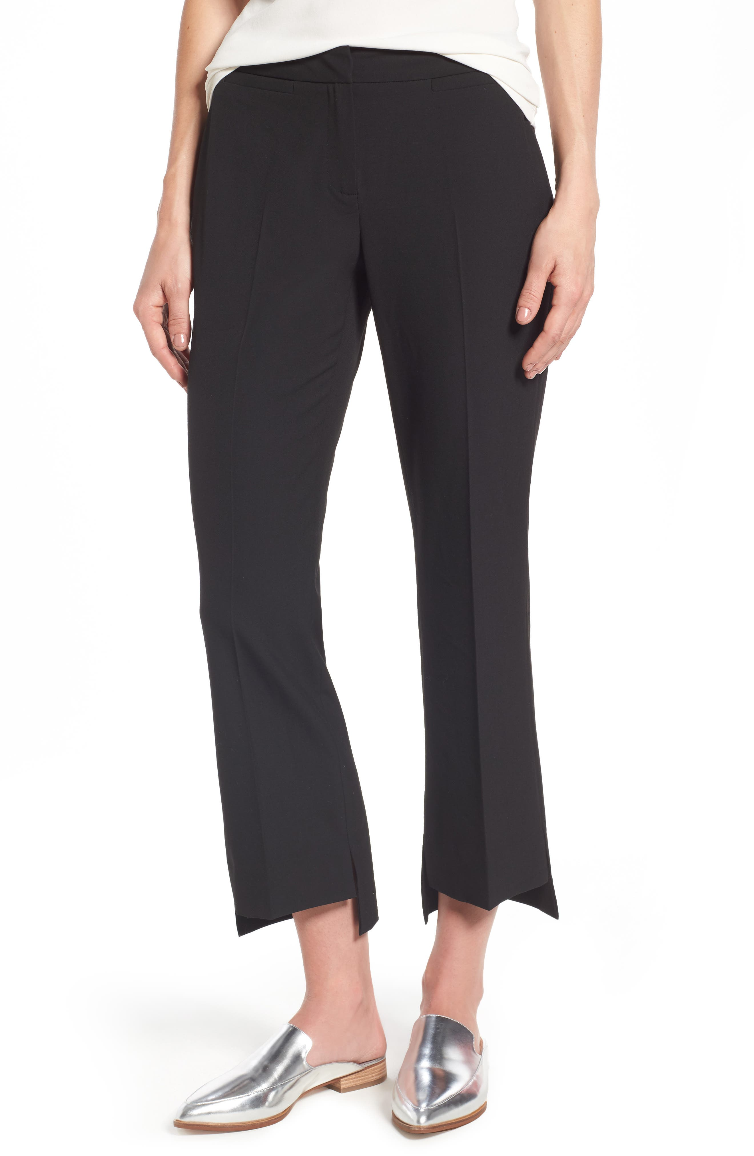 Halogen® Step Hem Pants (Regular & Petite)