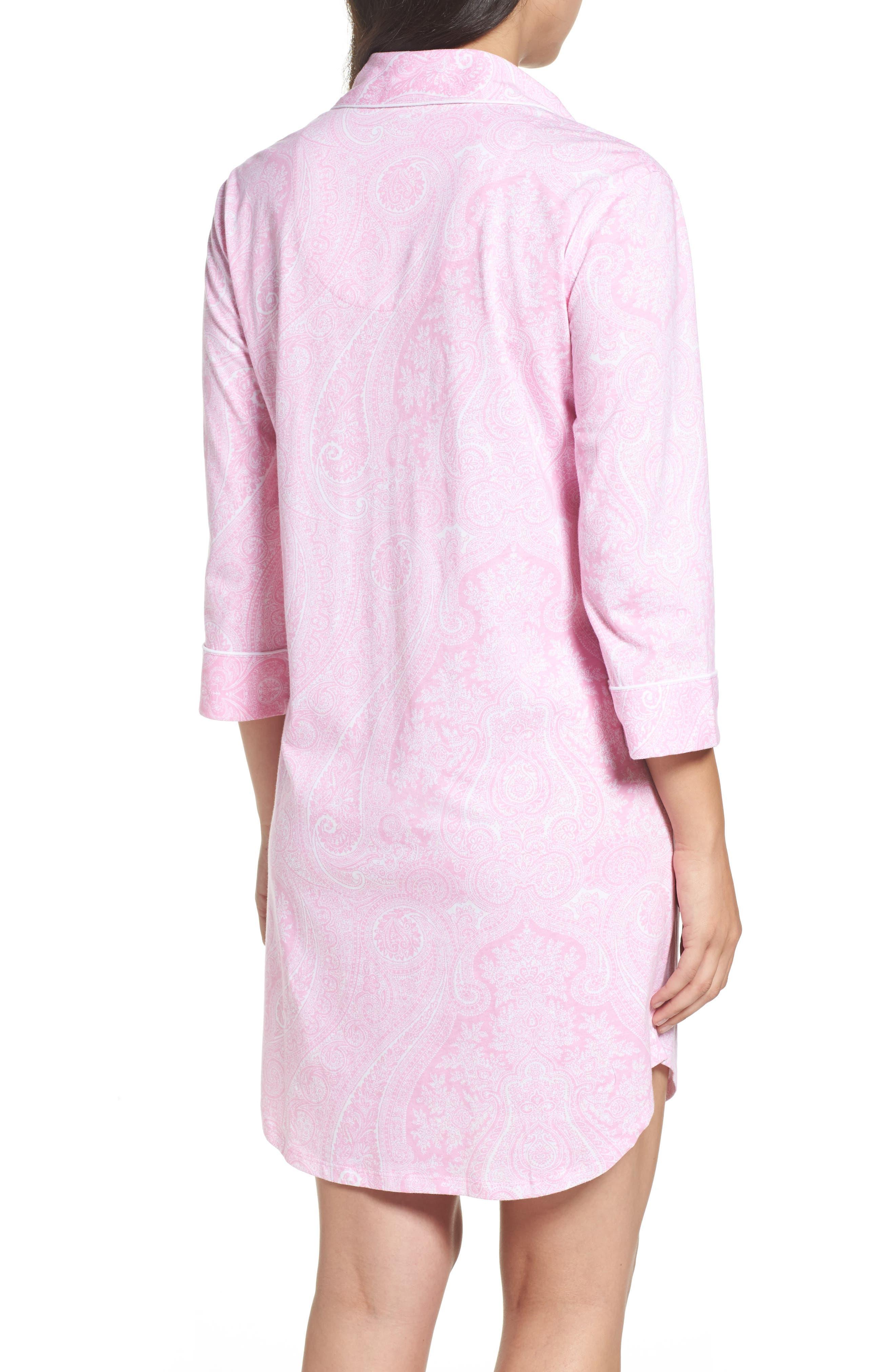 Alternate Image 2  - Lauren Ralph Lauren Jersey Sleep Shirt (Online Only)