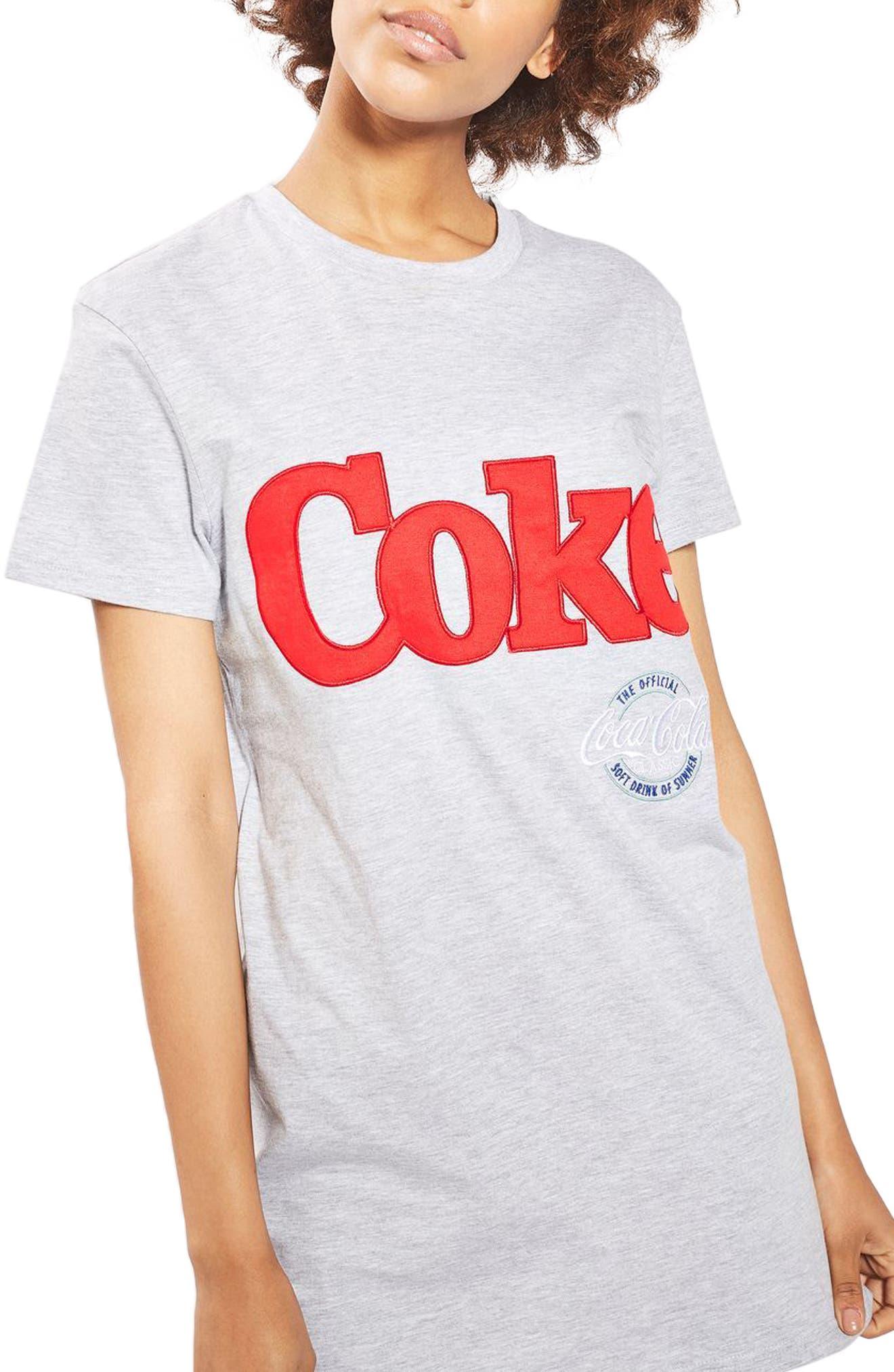 Alternate Image 1 Selected - Topshop Coca Cola® Sleep T-Shirt