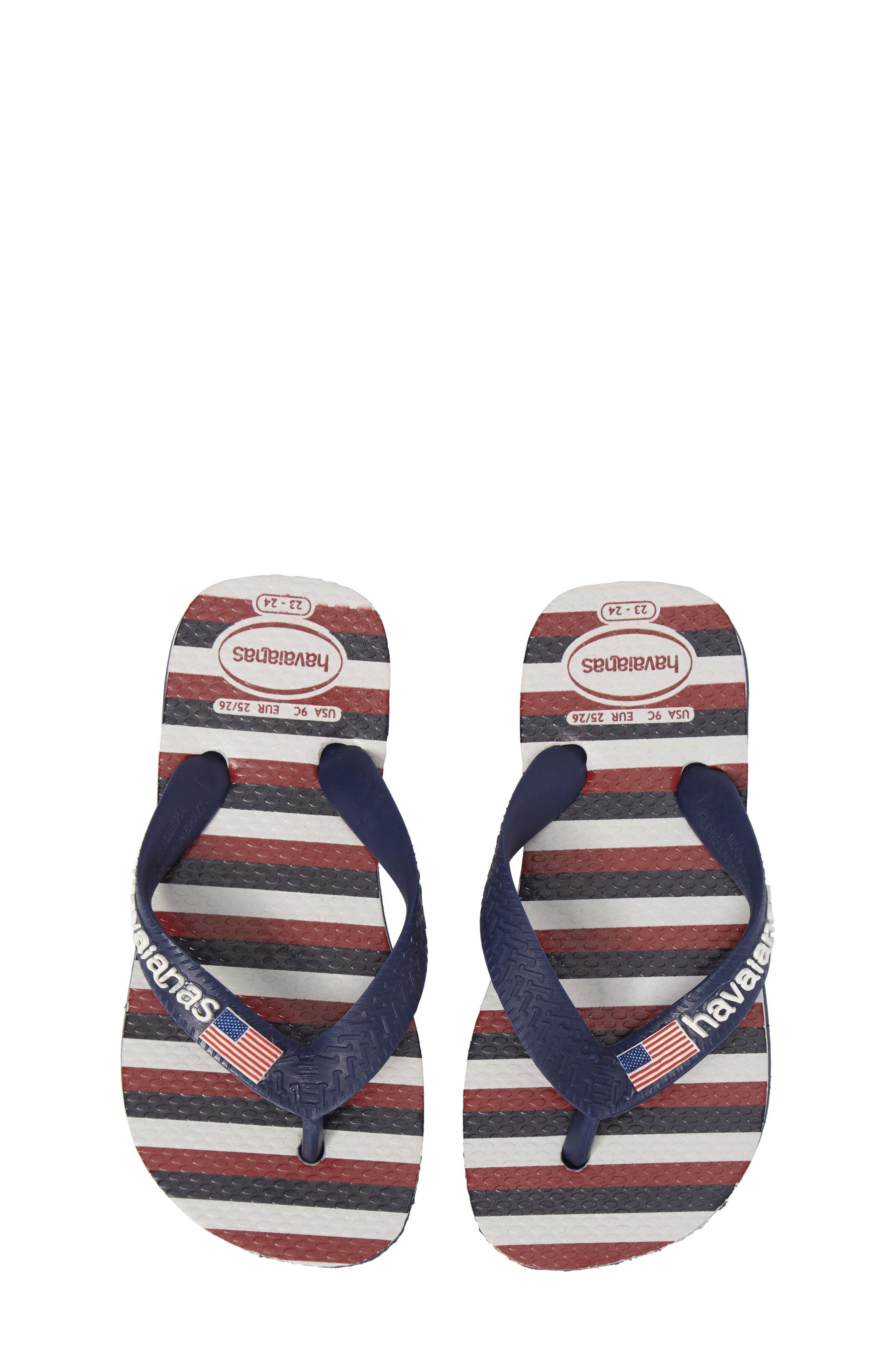 Havianas Top USA Stripe Flip Flop (Toddler & Little Kid)