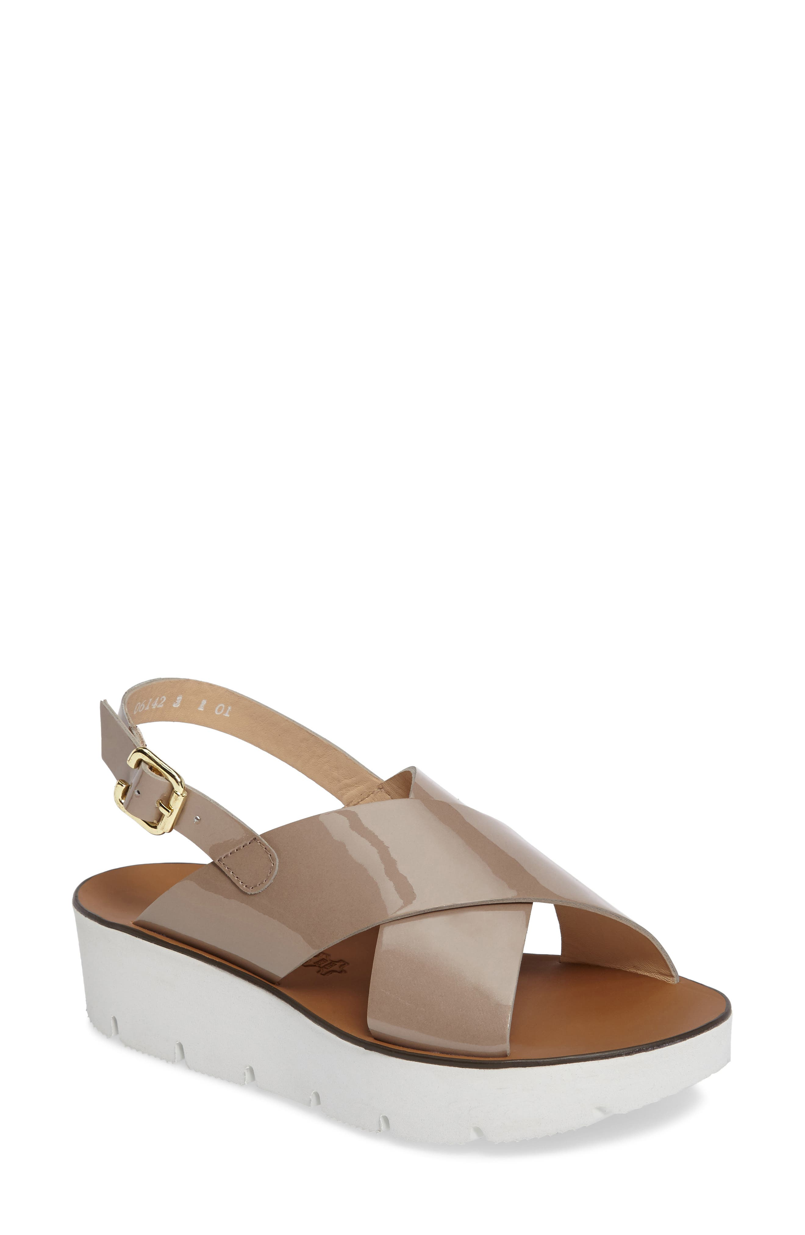 Paul Green Nico Cross Strap Platform Sandal (Women)