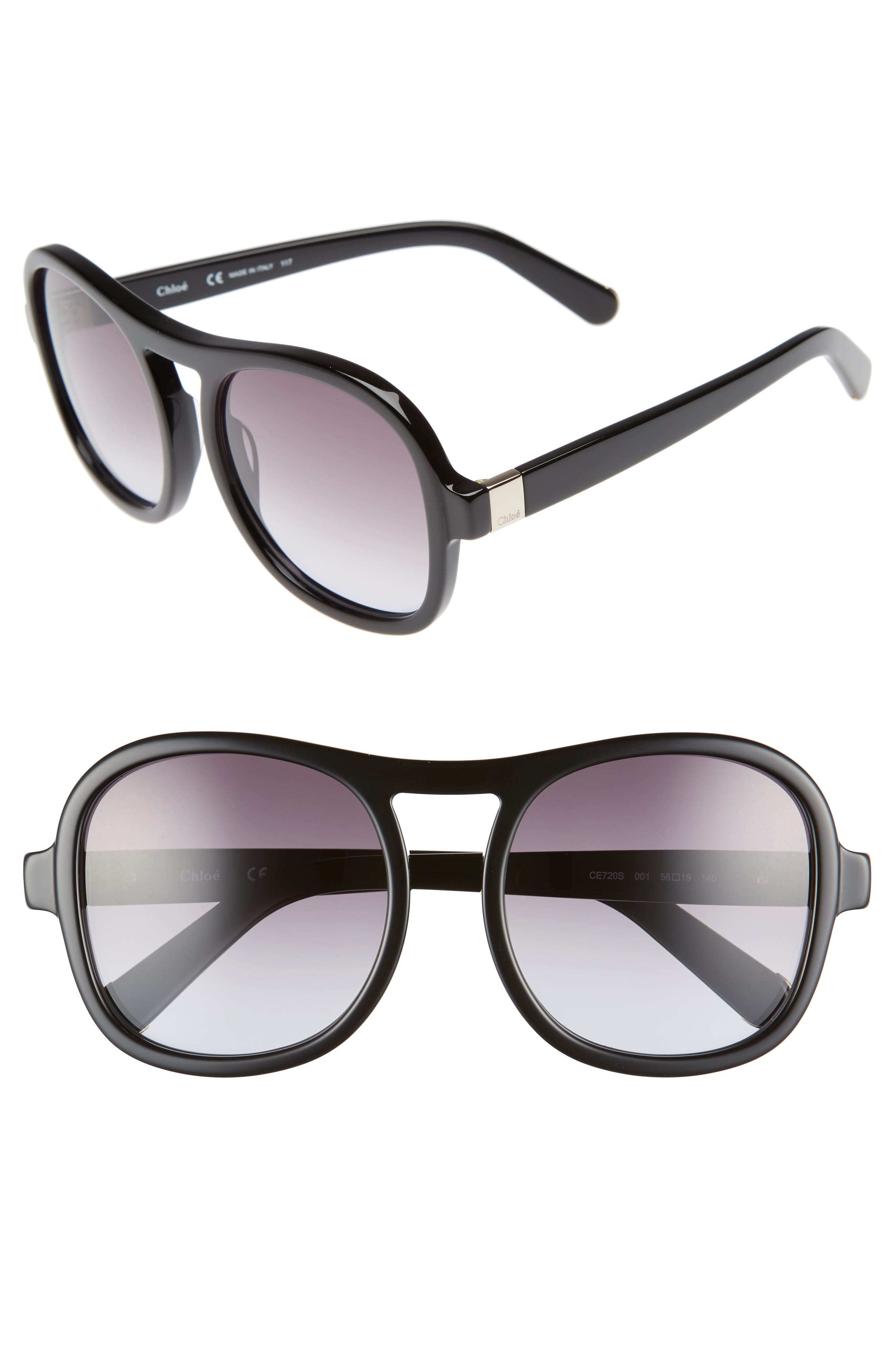 Chloé Marlow 56mm Gradient Lens Sunglasses