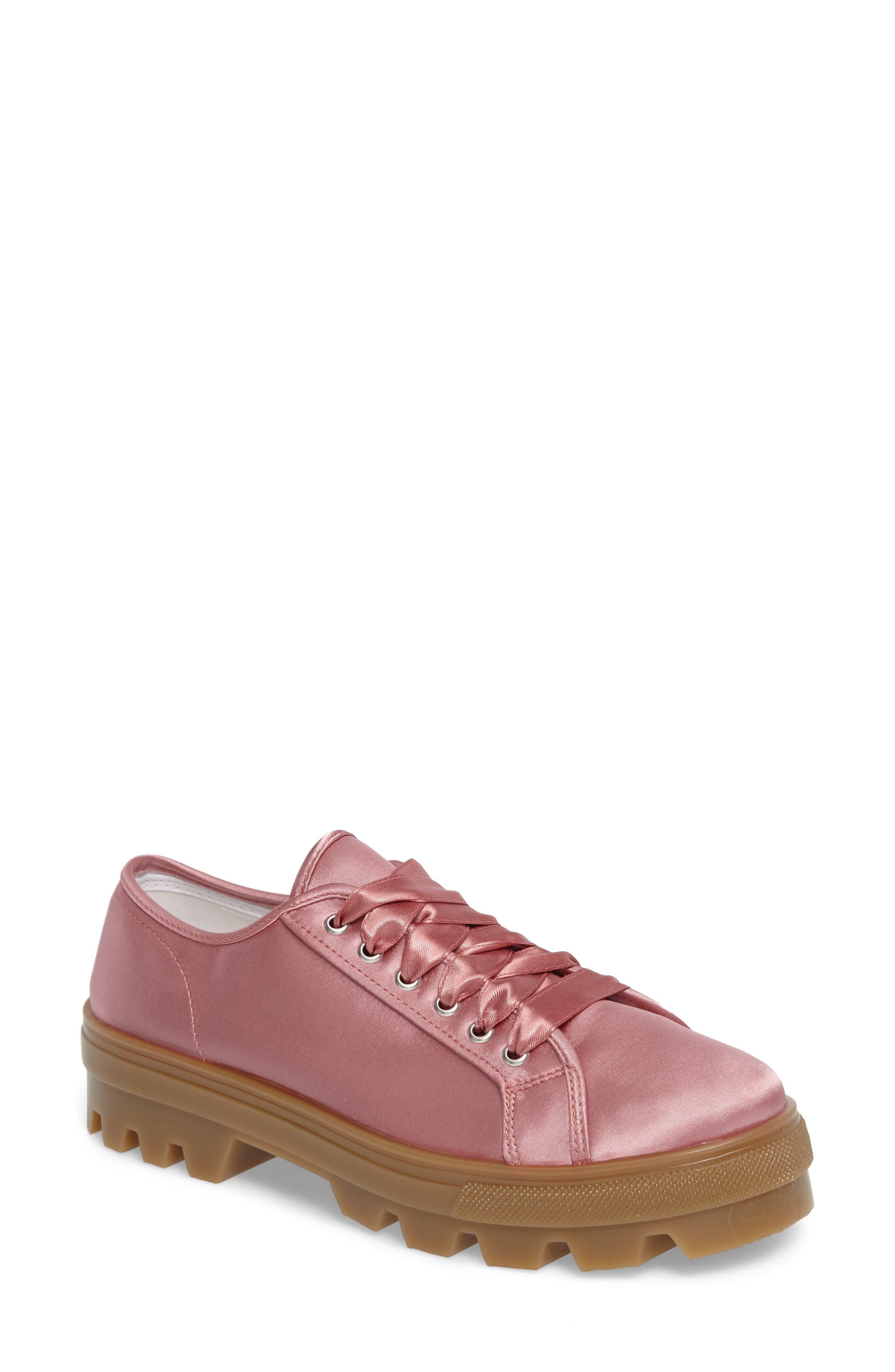 Topshop Clover Satin Sneaker (Women)