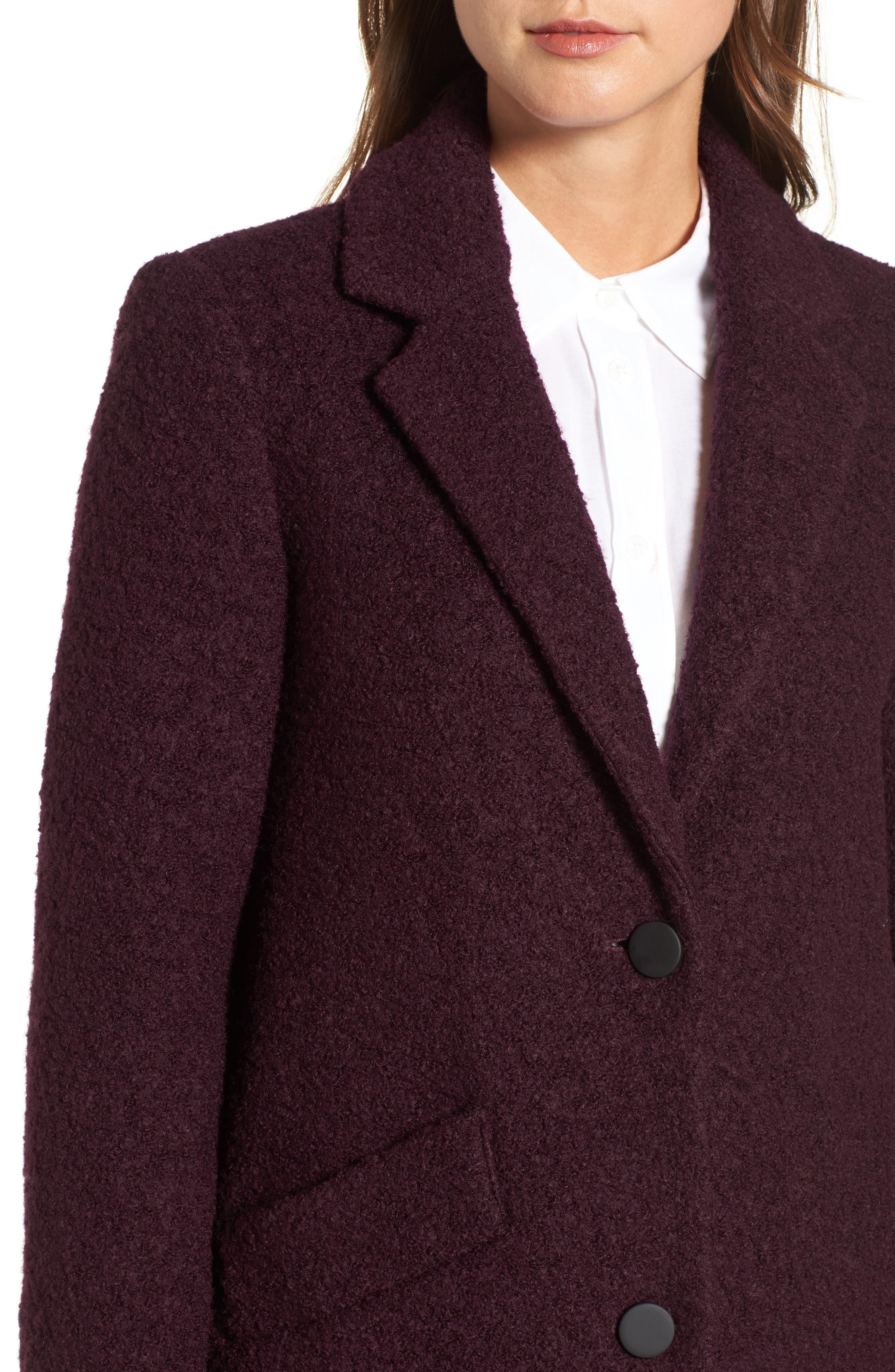 Alternate Image 4  - Andrew Marc Paige Wool Blend Bouclé Coat