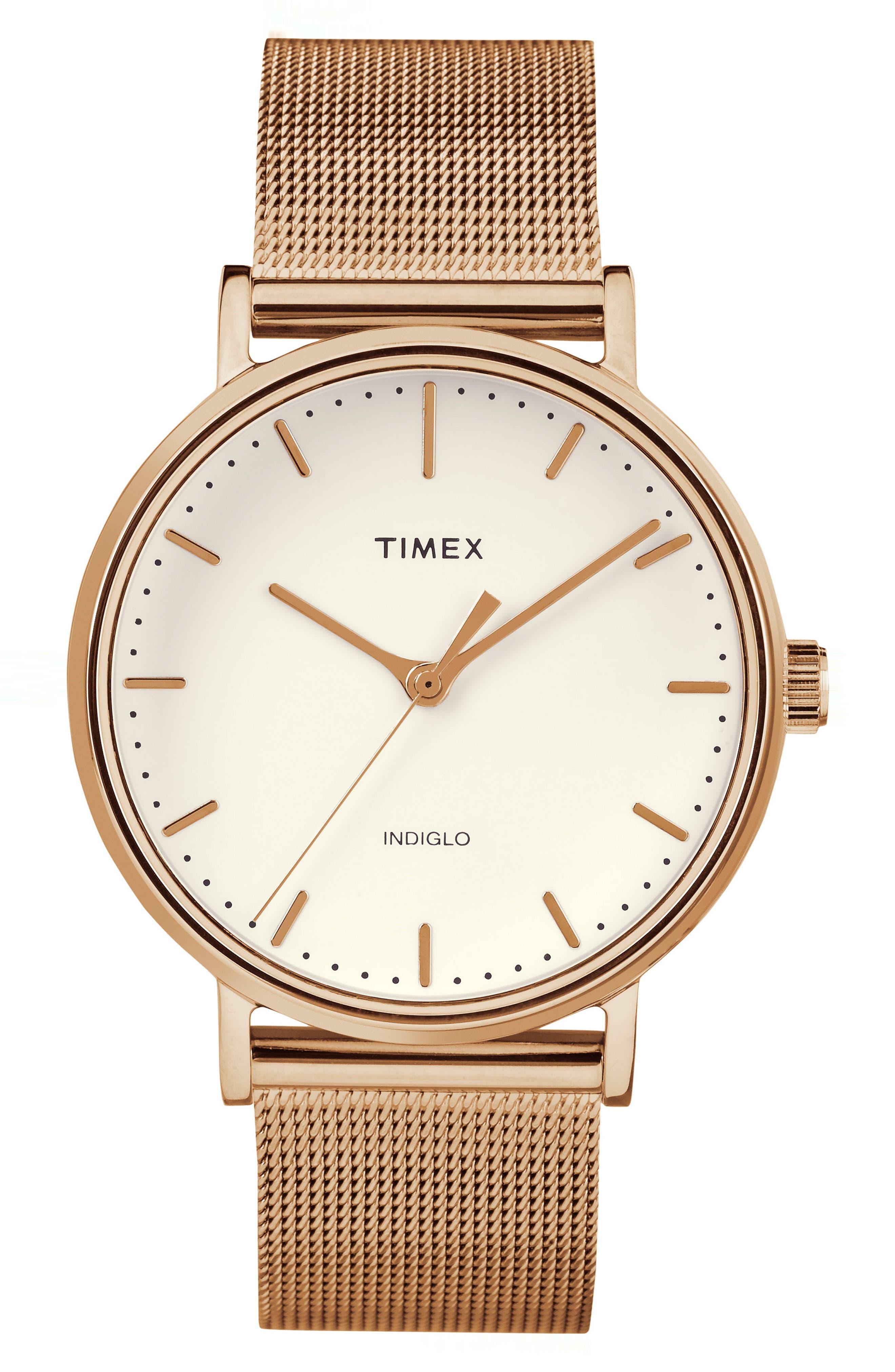 Timex® Fairfield Mesh Strap Watch, 37mm