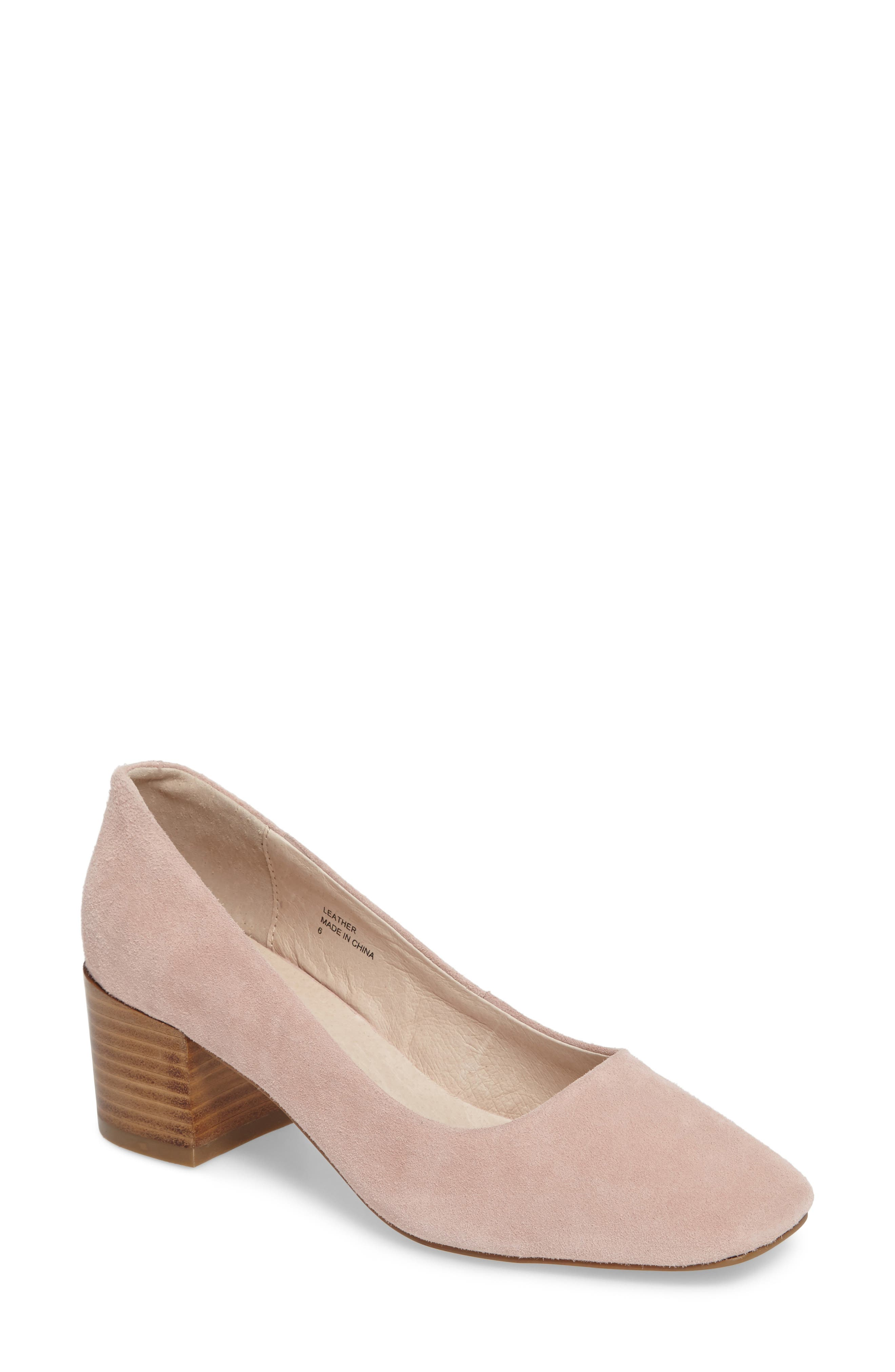 Grey City Tweed Square-Toe Pump (Women)