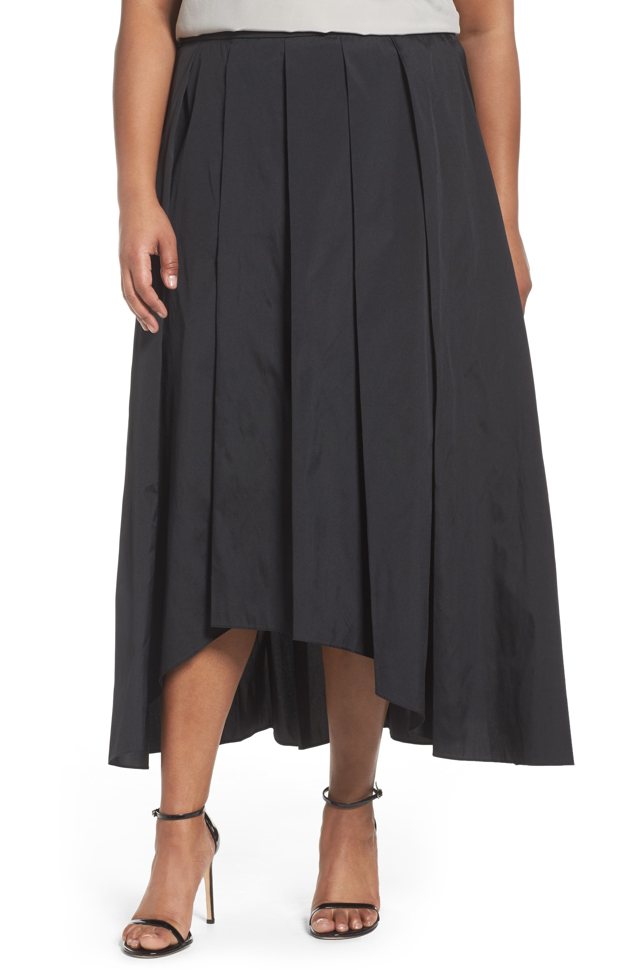 Alex Evenings Taffeta High/Low Ballgown Skirt (Plus Size)