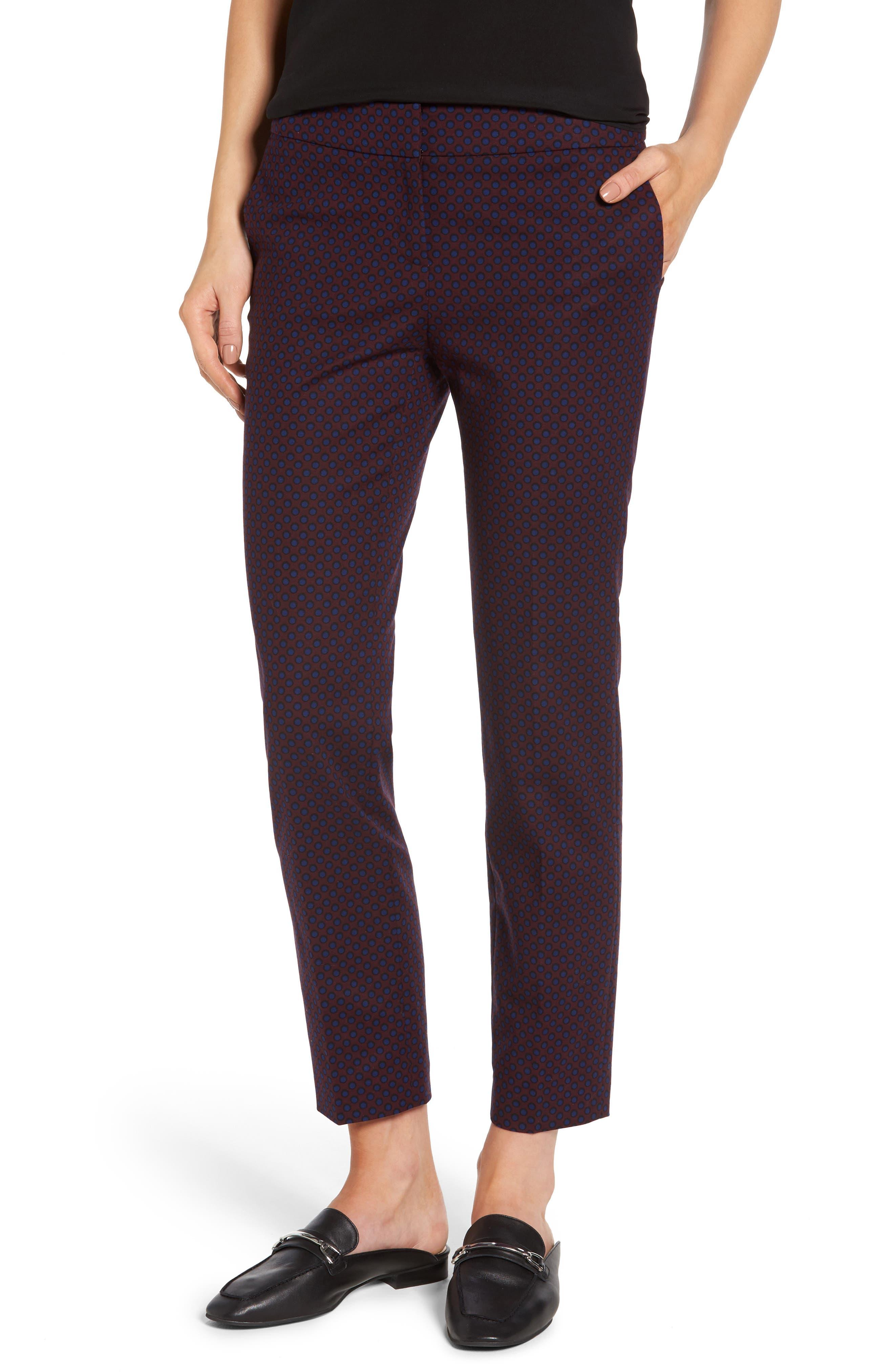 Halogen® Slim Ankle Pants (Regular & Petite)